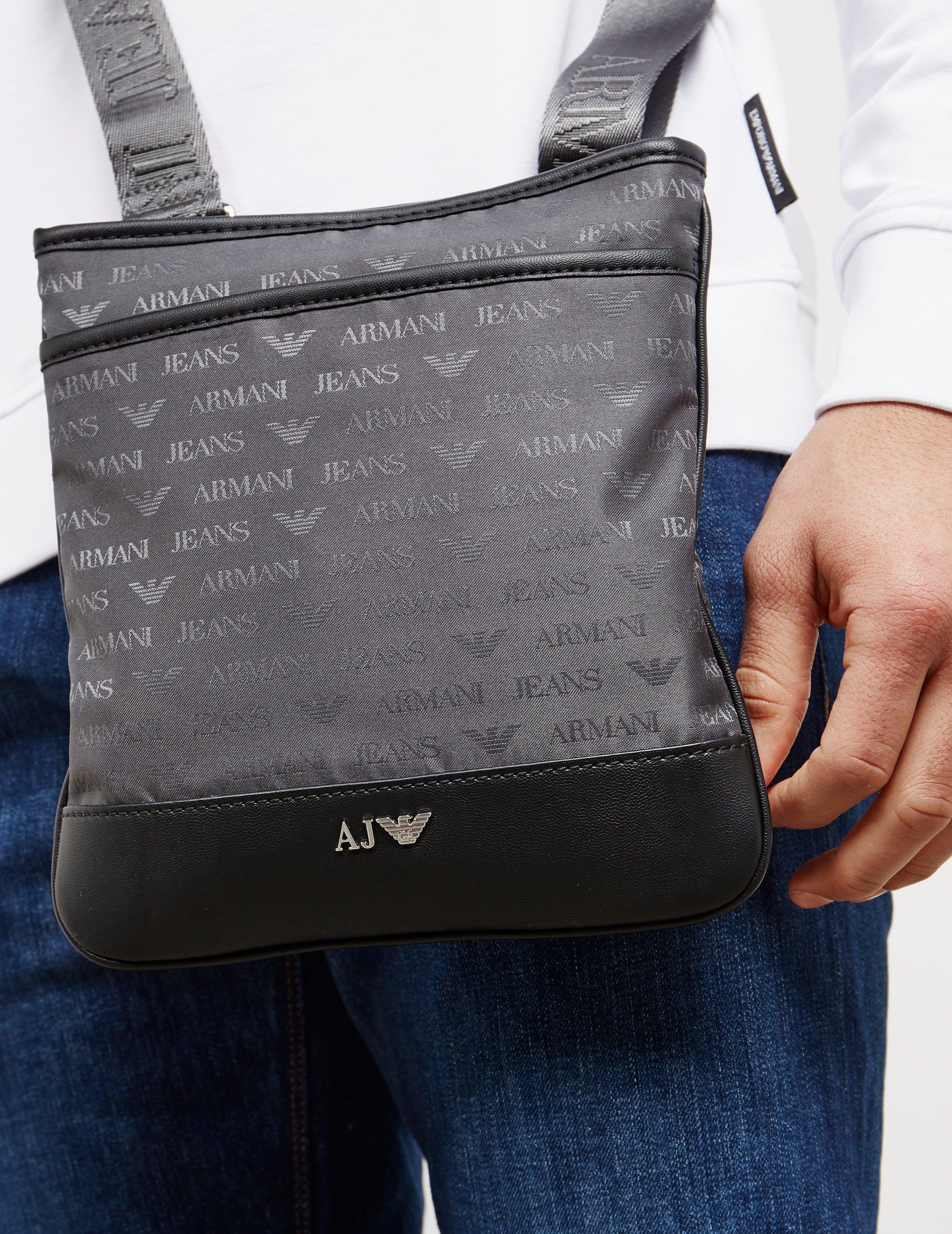 1ff67d55477 Armani Jeans Mens Nylon Small Item Bag Grey in Gray for Men - Lyst