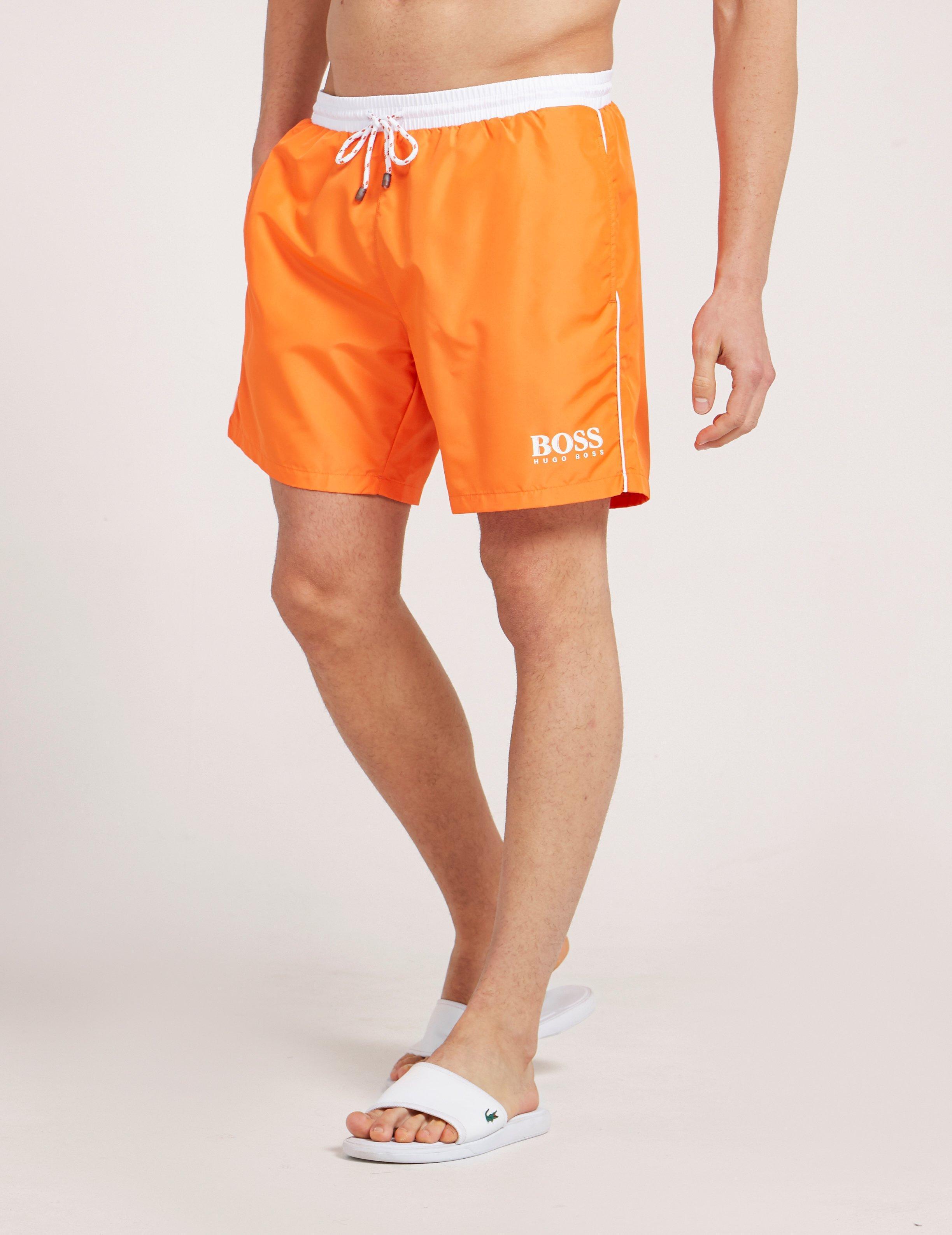 85aa84faa BOSS Mens Starfish Swim Shorts Orange in Orange for Men - Lyst