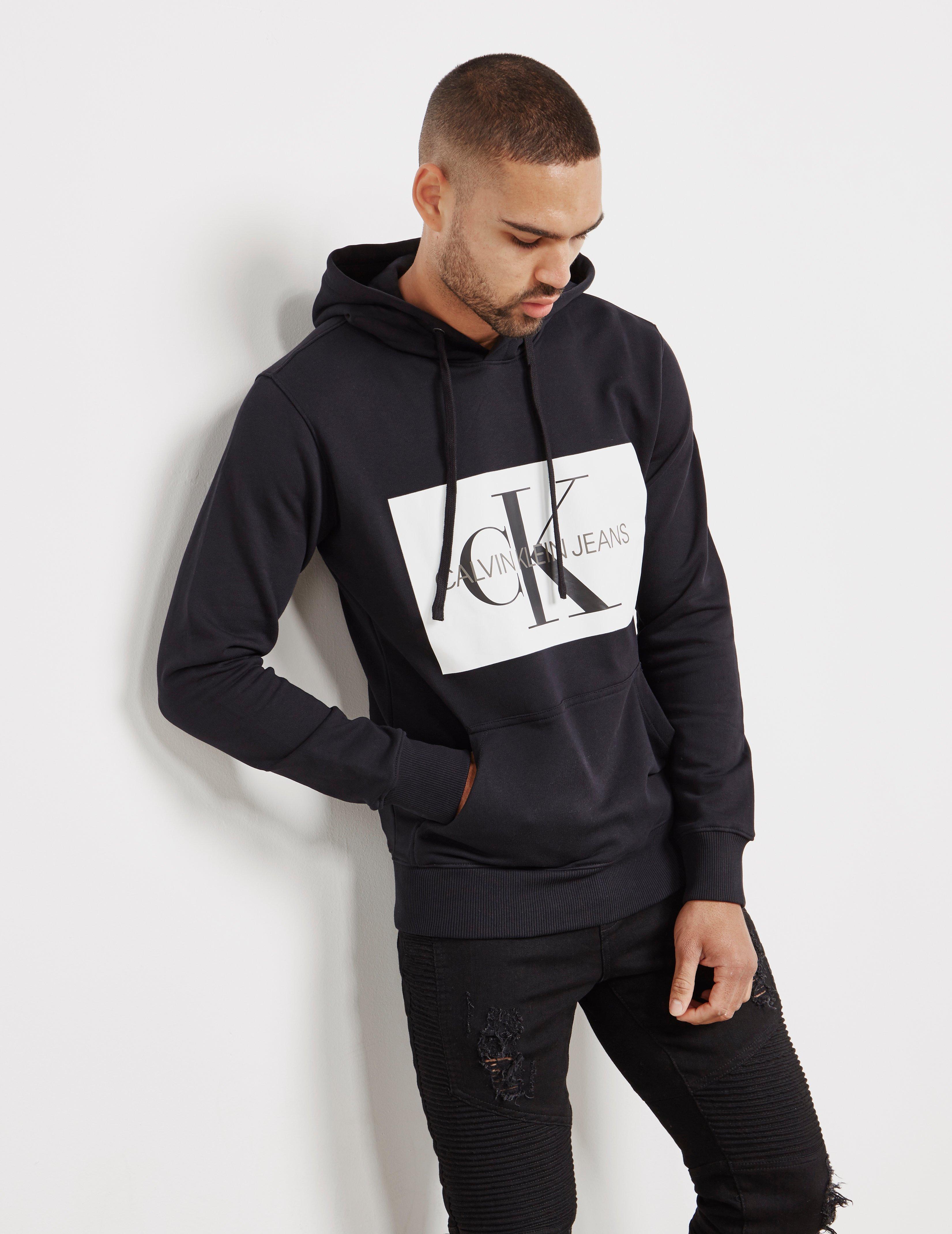 a95c5625ab05 Lyst - Calvin Klein Monogram Box Overhead Hoodie Black in Black for ...