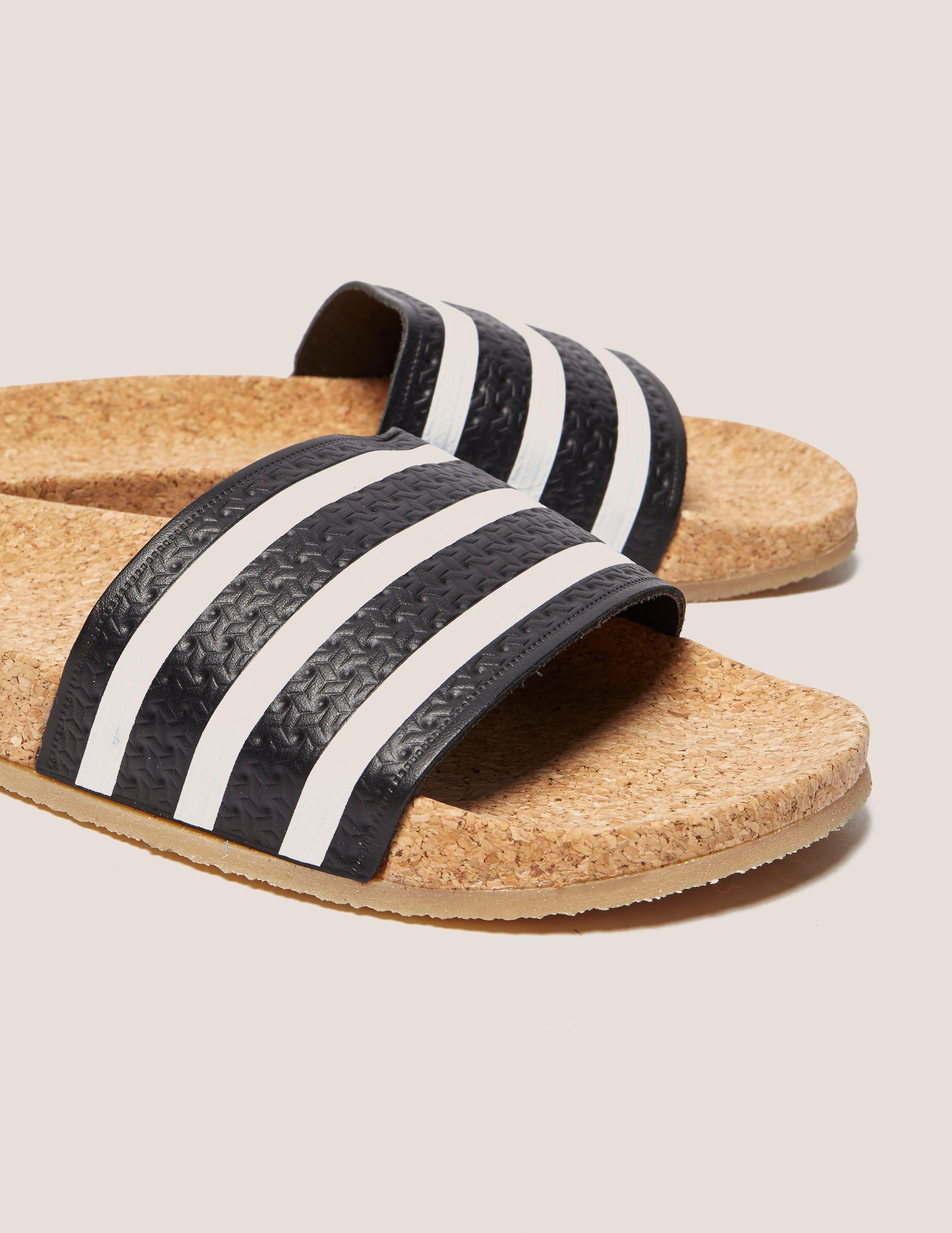 874a120804c2 Lyst - adidas Originals Adilette Cork Slides