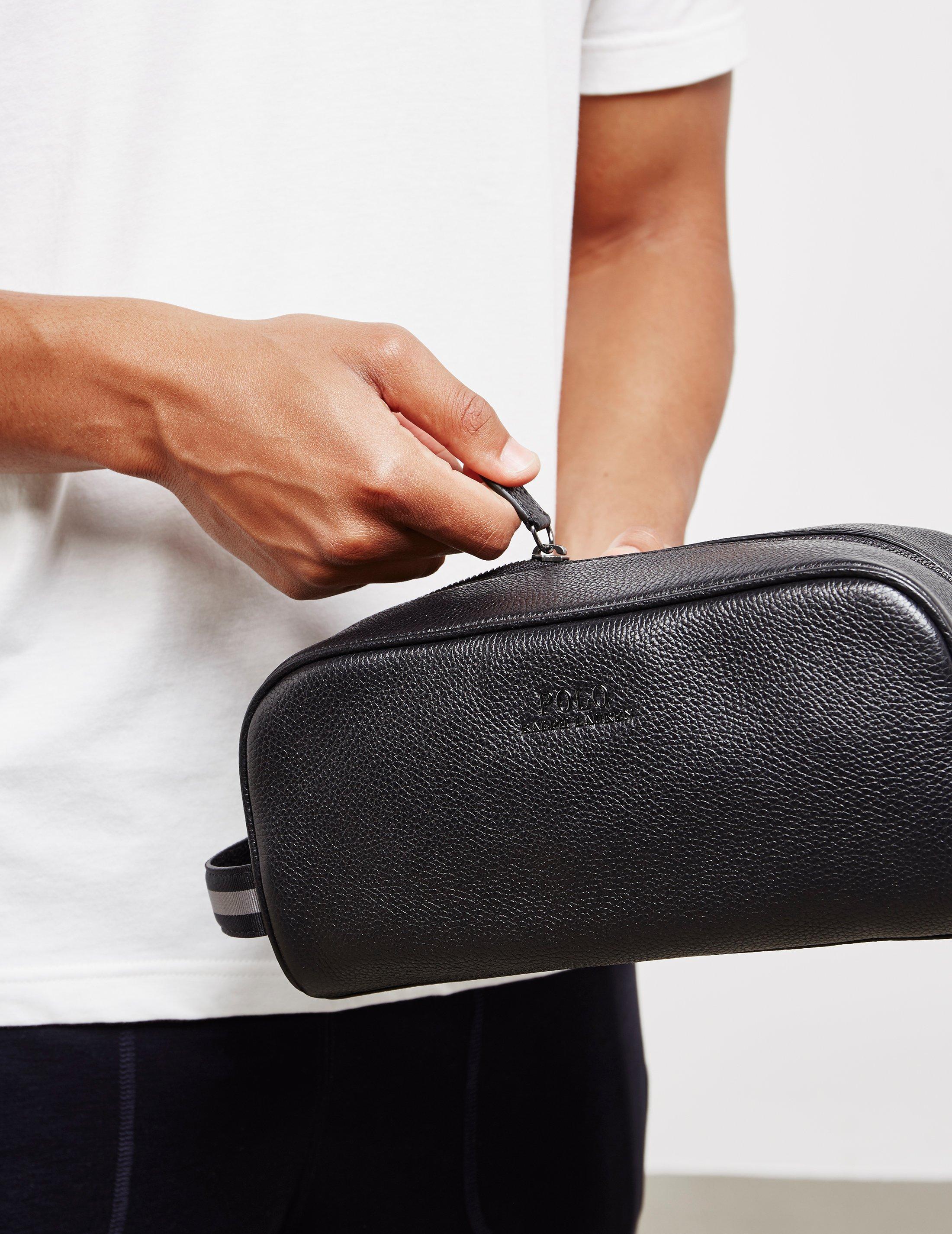 Lyst - Polo Ralph Lauren Mens Wash Bag - Online Exclusive Black in ... b197d9e46a