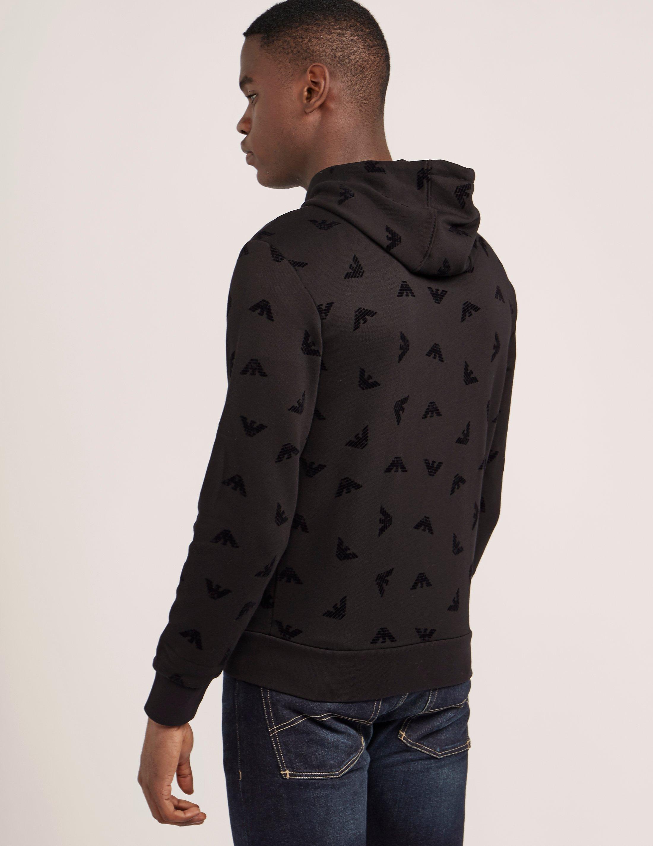 Armani Logo print hoodie 3QRxSwB