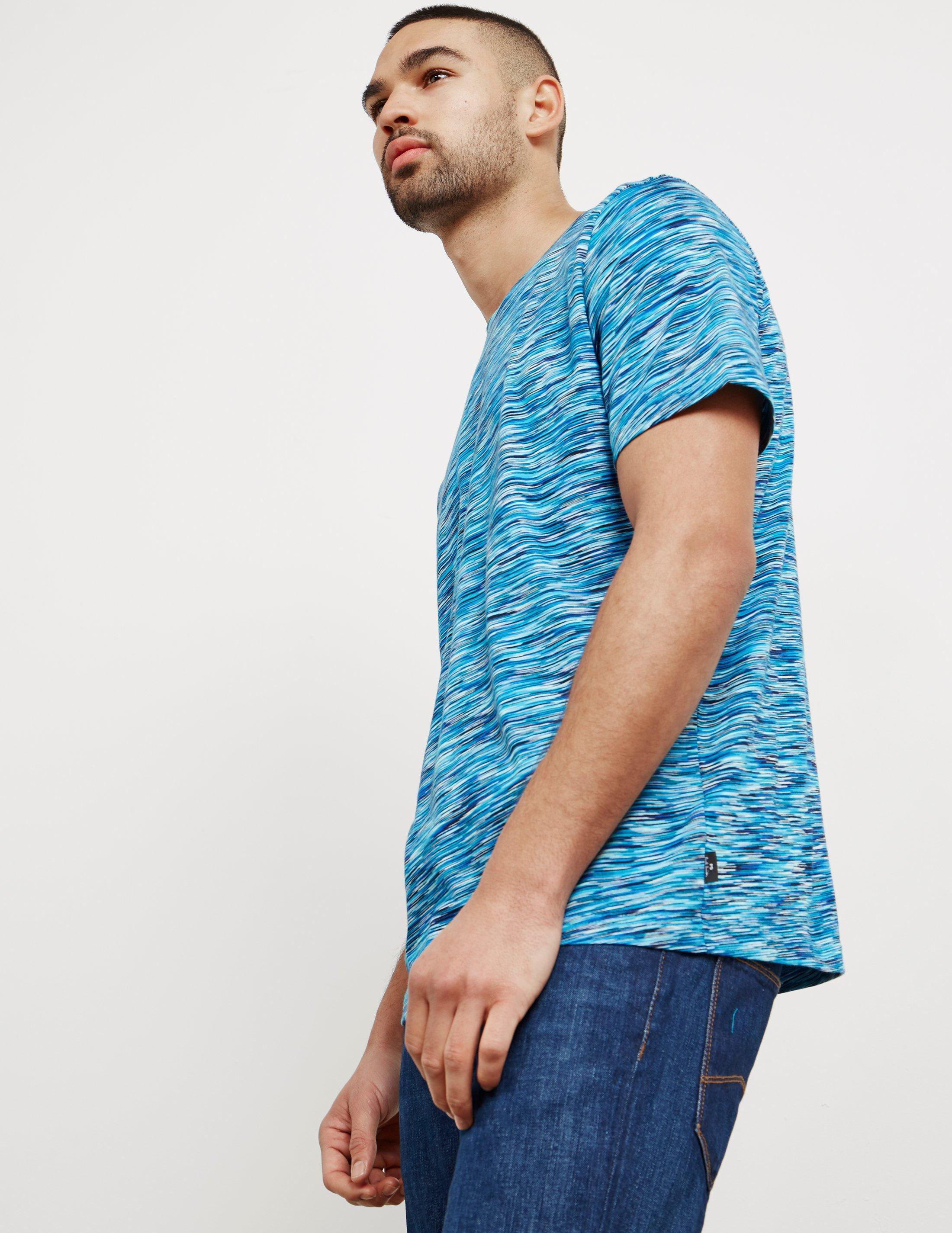 c98671aa77 PS by Paul Smith Dye Stripe Short Sleeve T-shirt Navy Blue in Blue ...