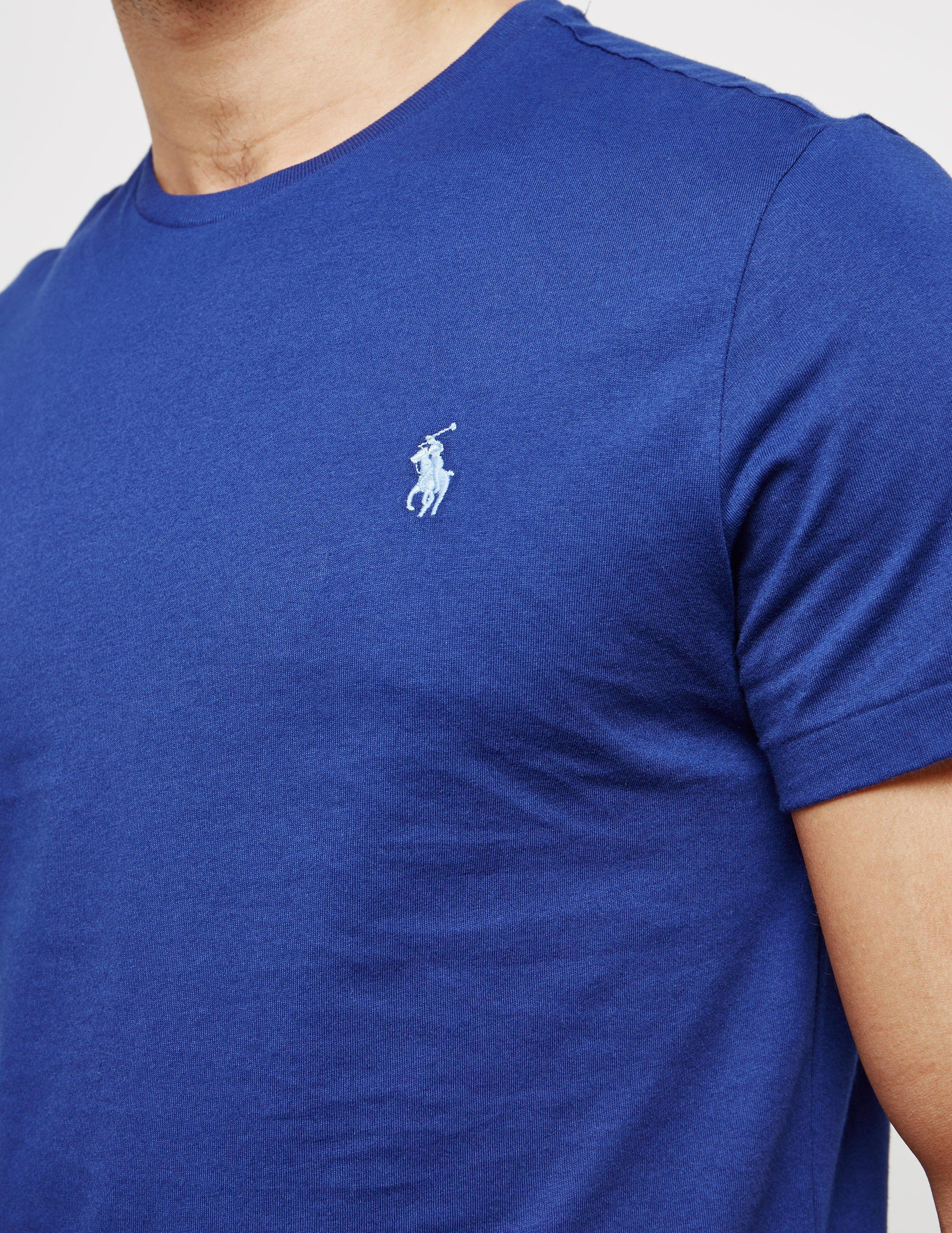 89df002fd9e1 Polo Ralph Lauren Mens Crew Neck Short Sleeve T-shirt Royal Blue in ...