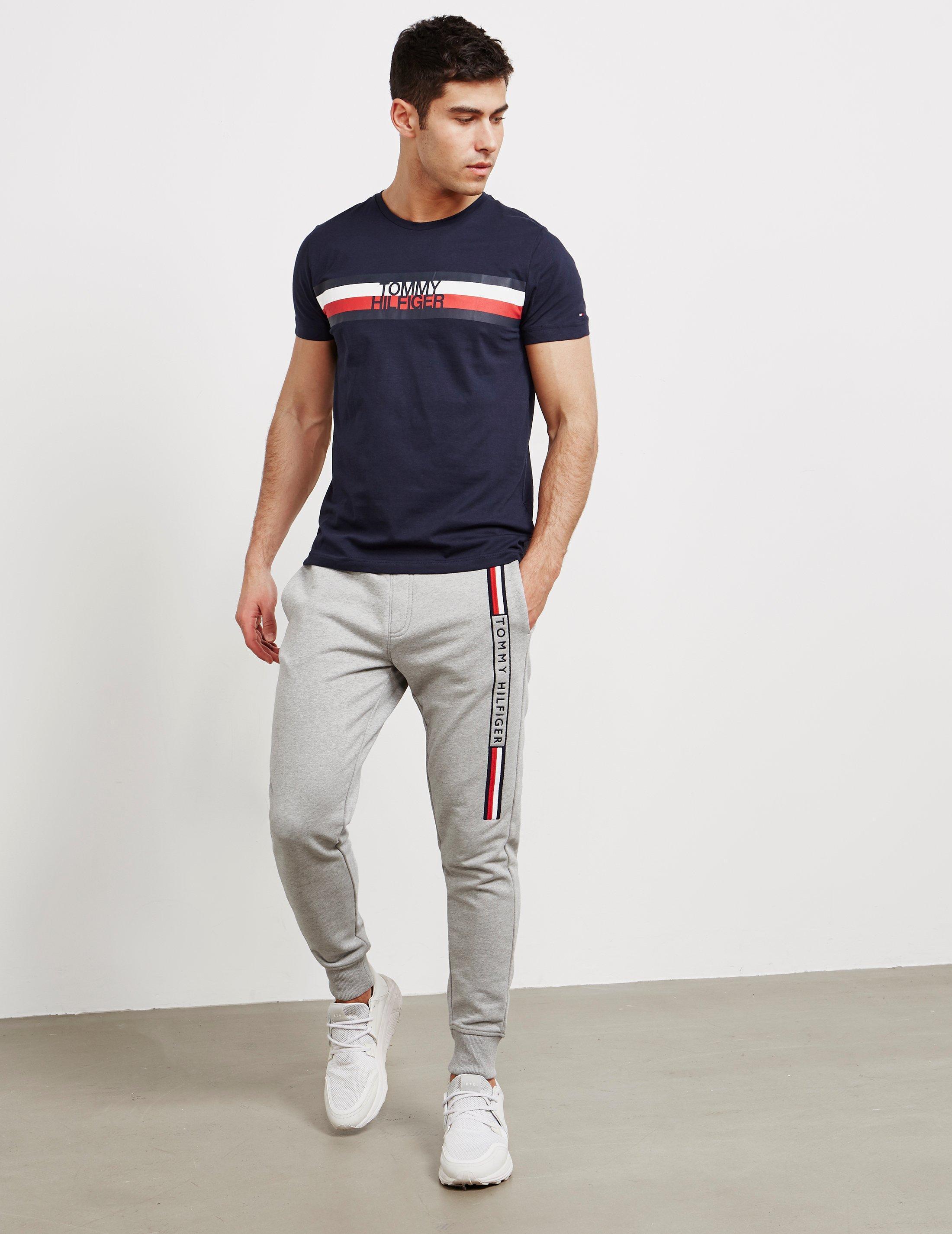 056a03c5 Lyst - Tommy Hilfiger Flag Logo Short Sleeve T-shirt Black in Black for Men