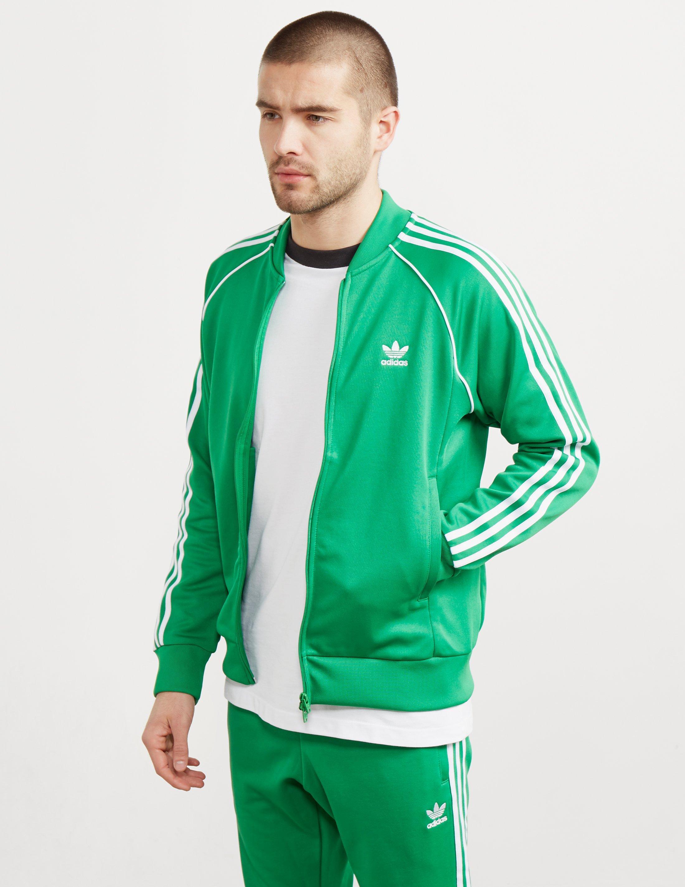 Lyst adidas originali tuta top verde per gli uomini.