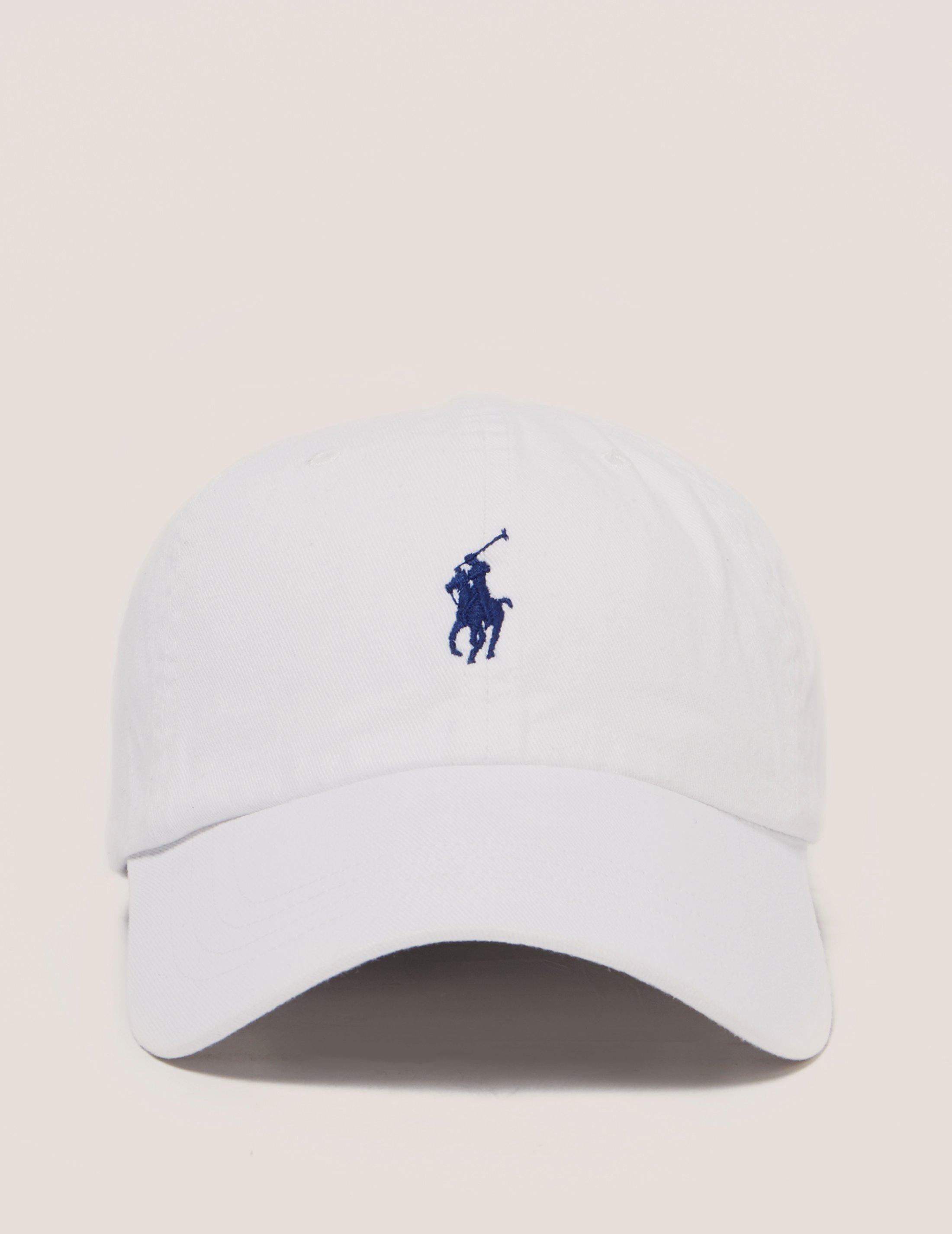 Polo Ralph Lauren Mens Logo Cap White in White for Men - Lyst 6a2ef289169