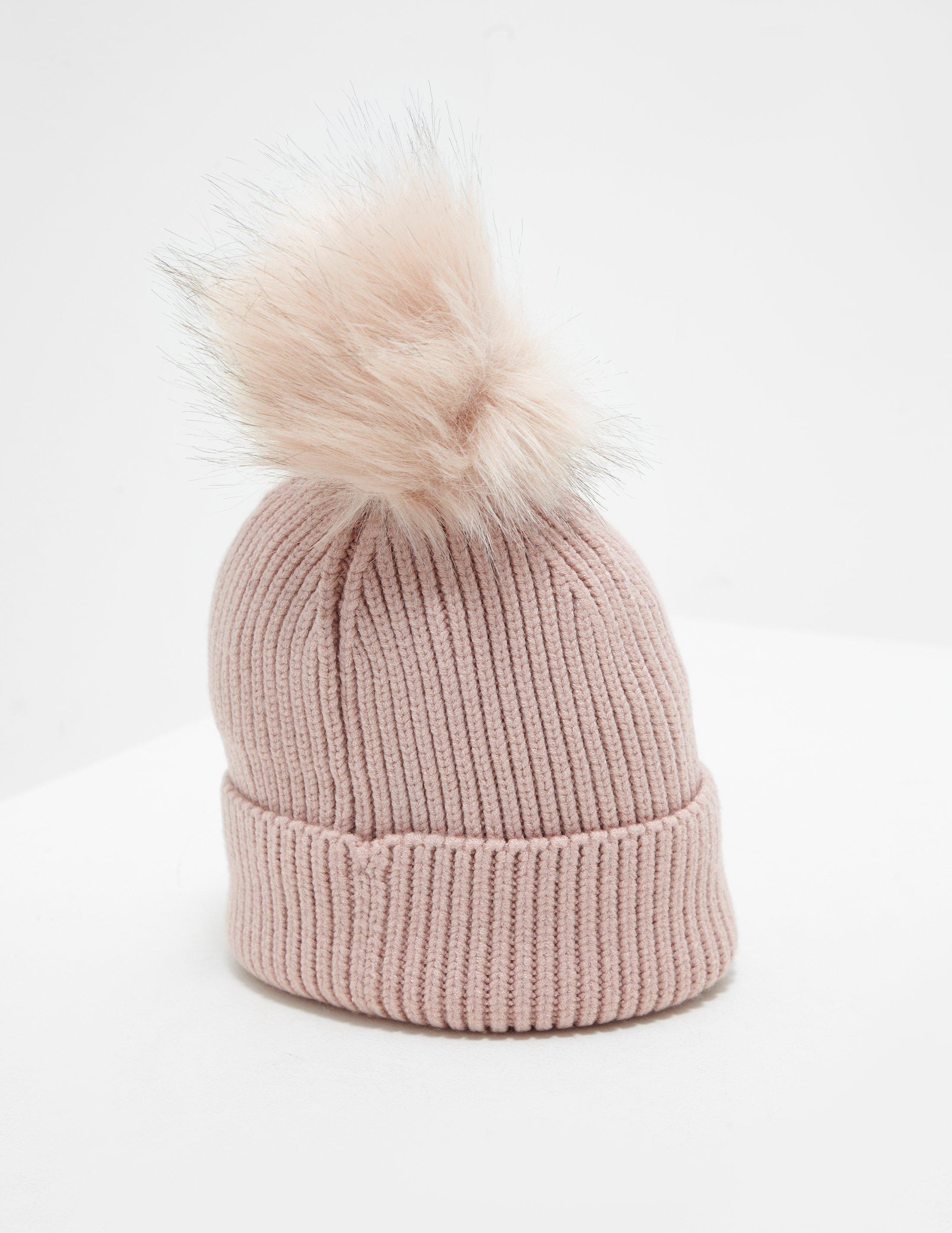 ac141ee9cef1f Barbour Mallory Pompom Beanie Pink in Pink - Lyst