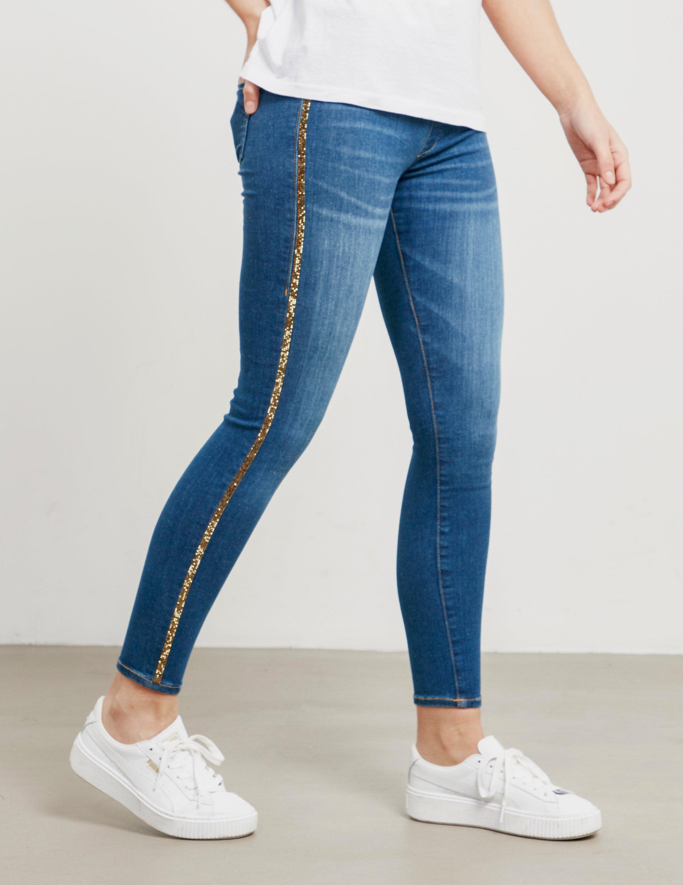 df0ee1c73 Lyst - True Religion Womens Rhinestone Skinny Runway Leggings Blue ...