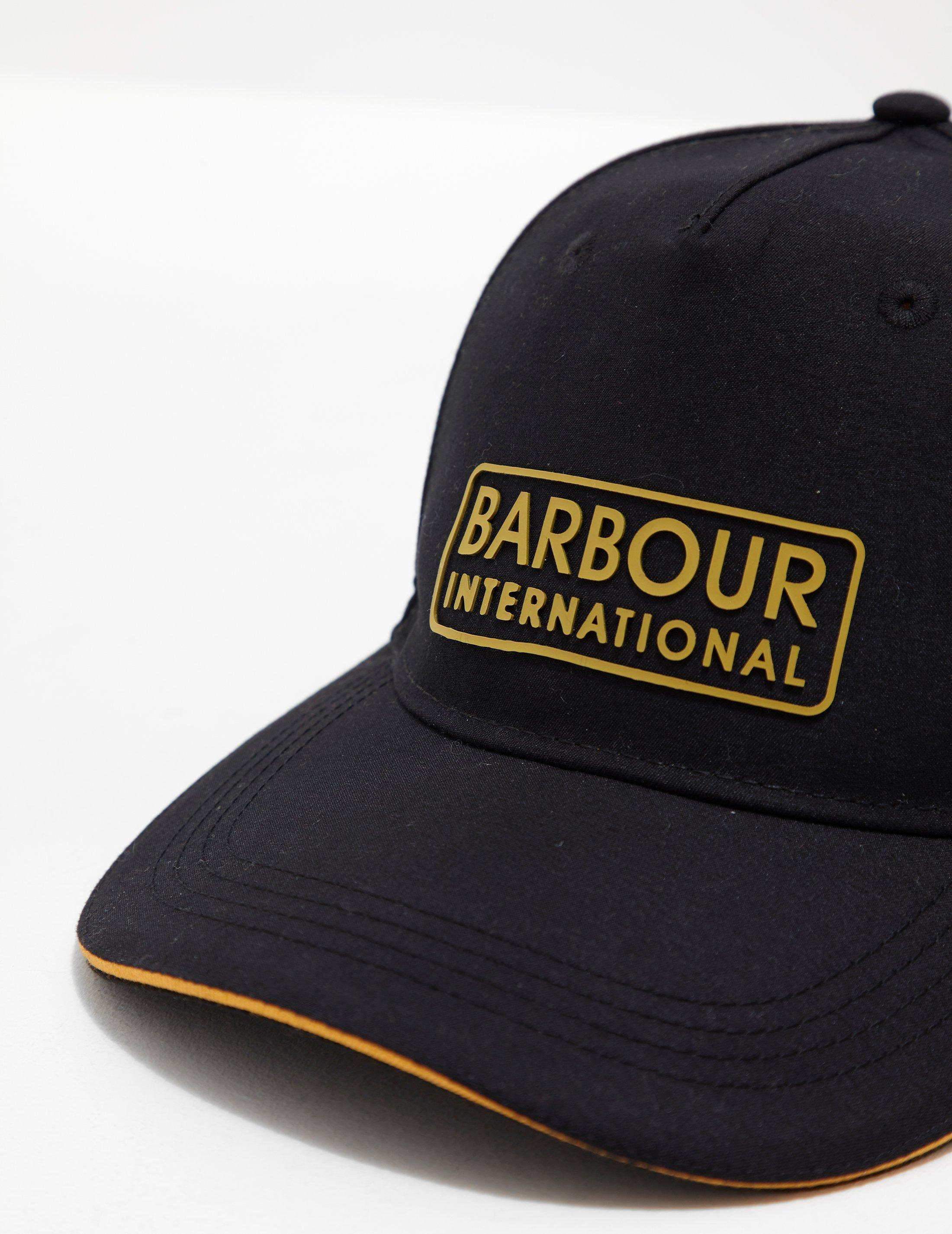 a68d2046241 Lyst - Barbour Mens International Hudson Sports Cap Black in Black for Men
