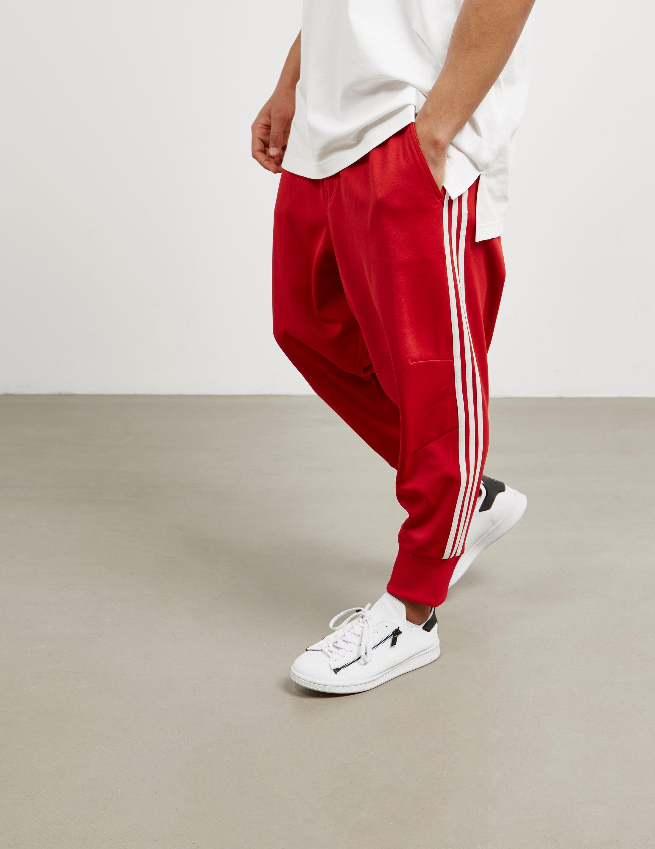 23dfb2425b222 Lyst Y 3 Mens Three Stripe Track Pants Red In For Men