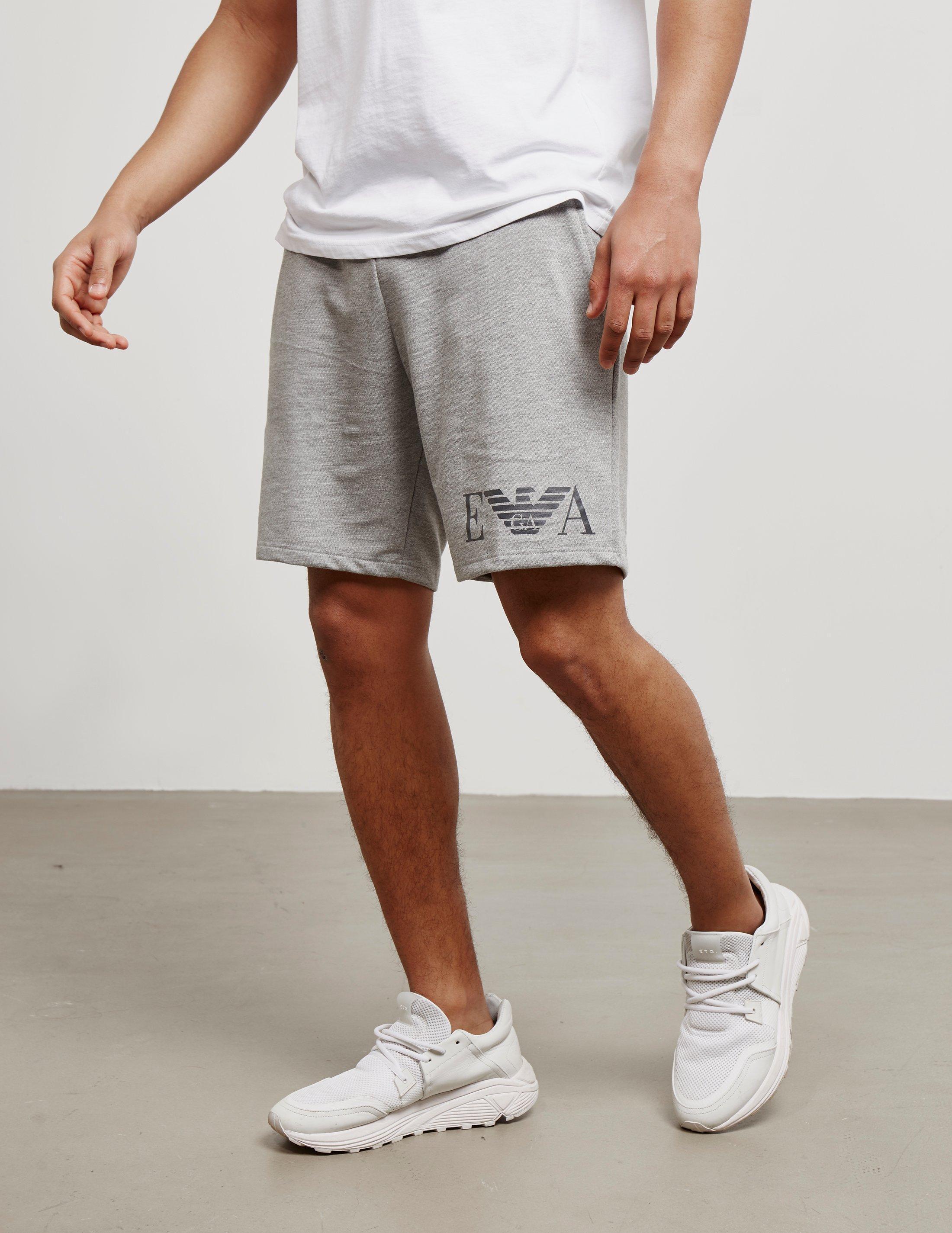 42982262f Lyst - Emporio Armani Logo Fleece Shorts Grey in Gray for Men