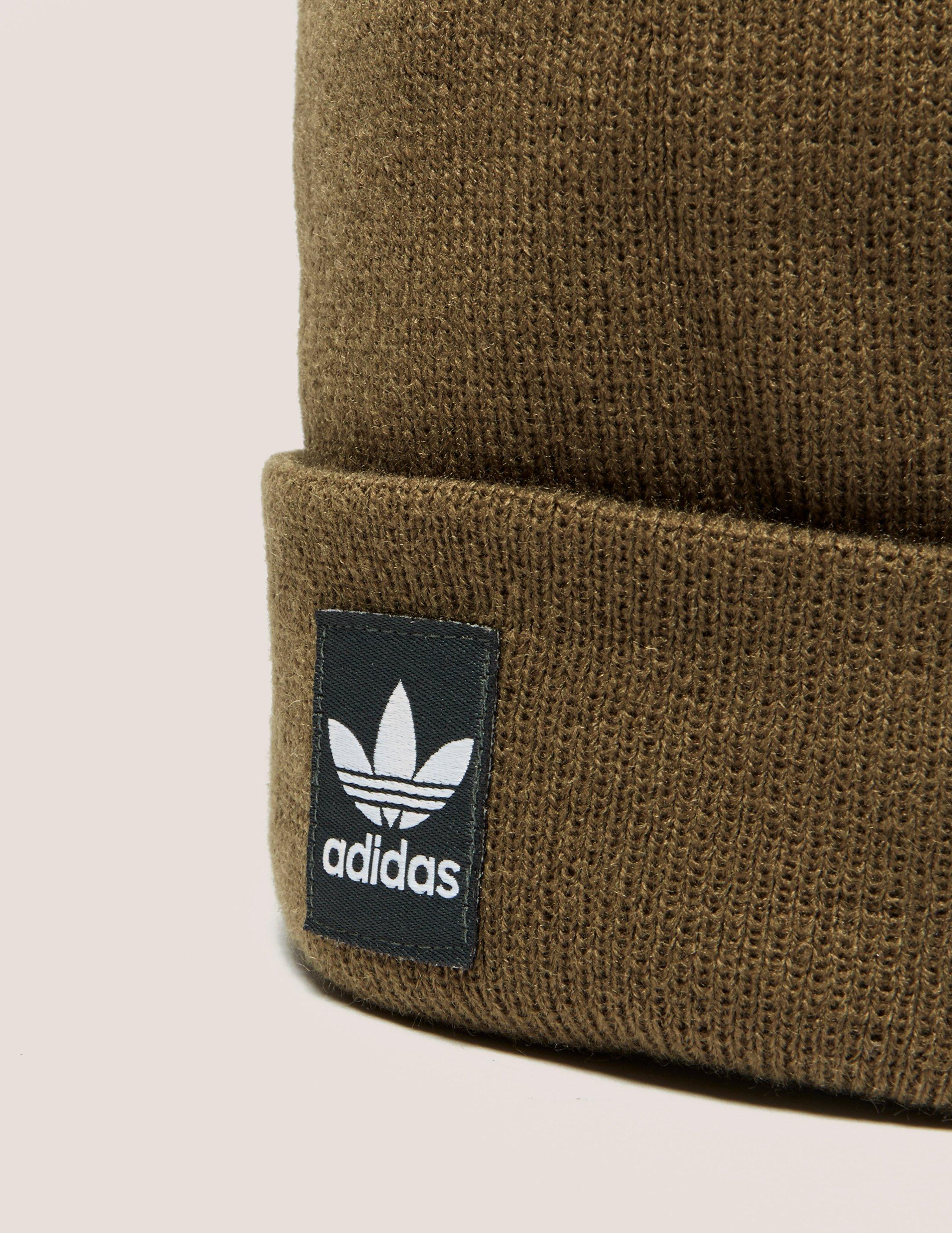 4d74f48f15c adidas Originals Mens Logo Bobble Hat Brown in Brown for Men - Lyst