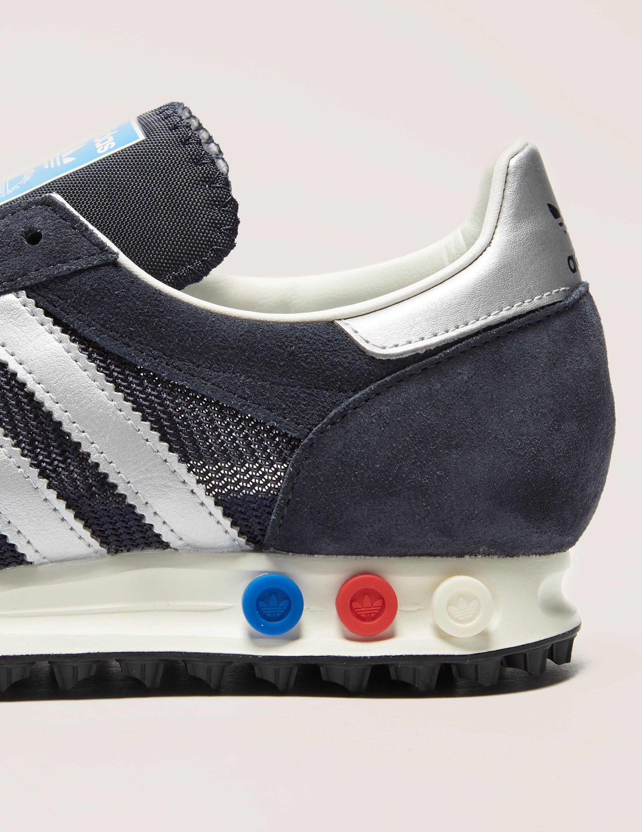 15f29a68bf9 Lyst - adidas Originals Mens La Trainer Og Navy silver in Blue for Men