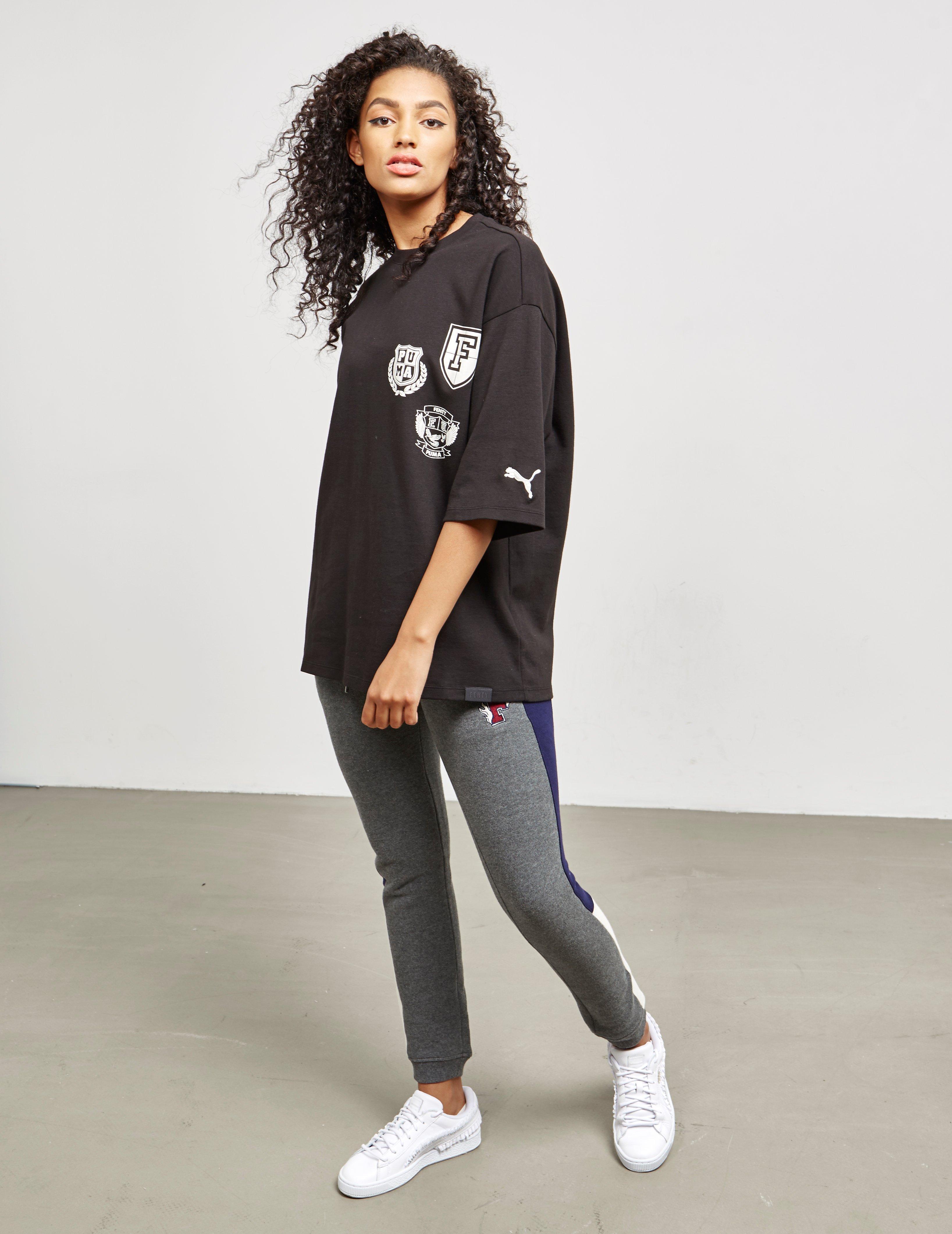 innovative design 8b2ca 3b369 PUMA Womens X Fenty Badge Short Sleeve T-shirt Black in ...