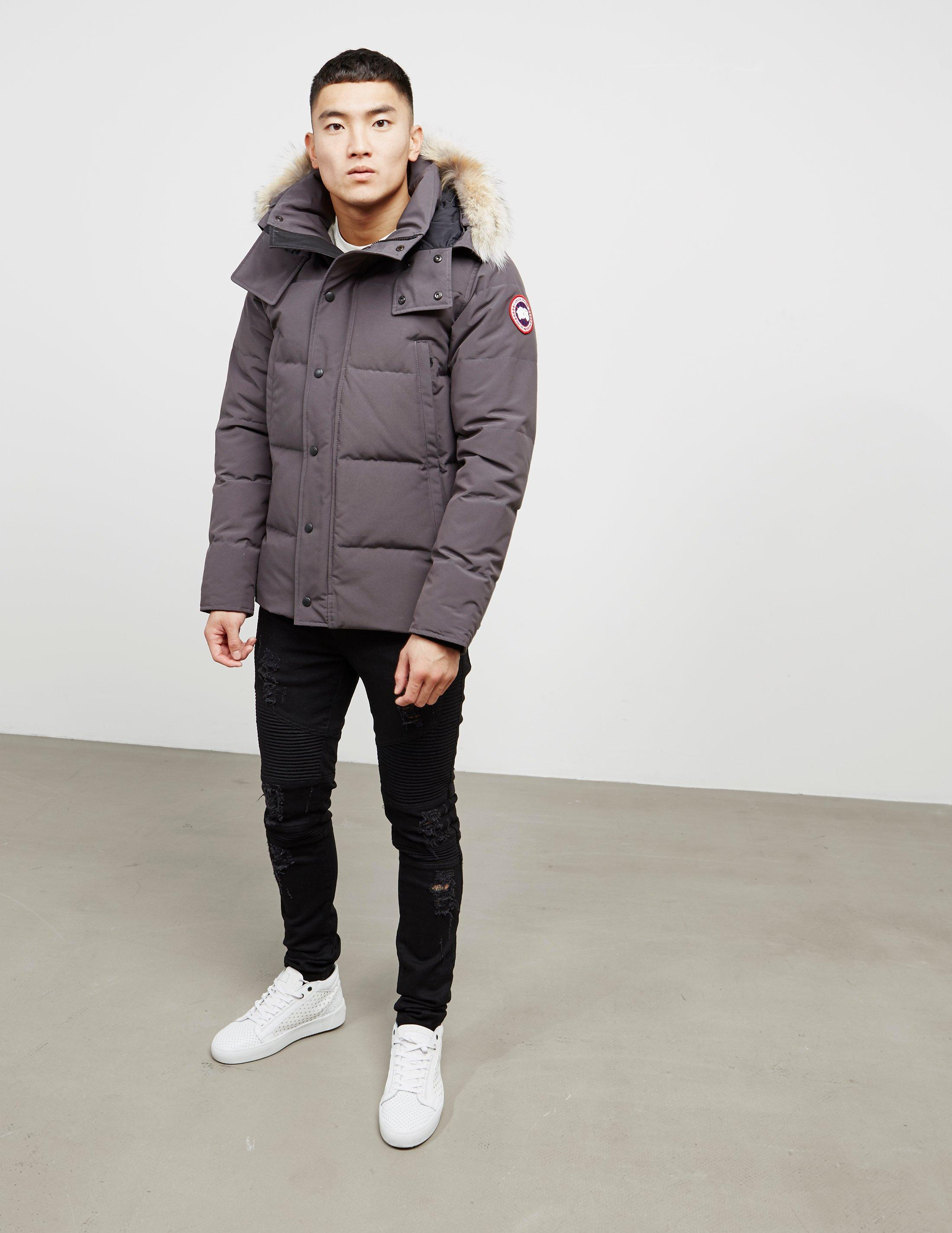 4040c591f54 Canada Goose Mens Wyndham Padded Parka Jacket Grey in Gray for Men ...