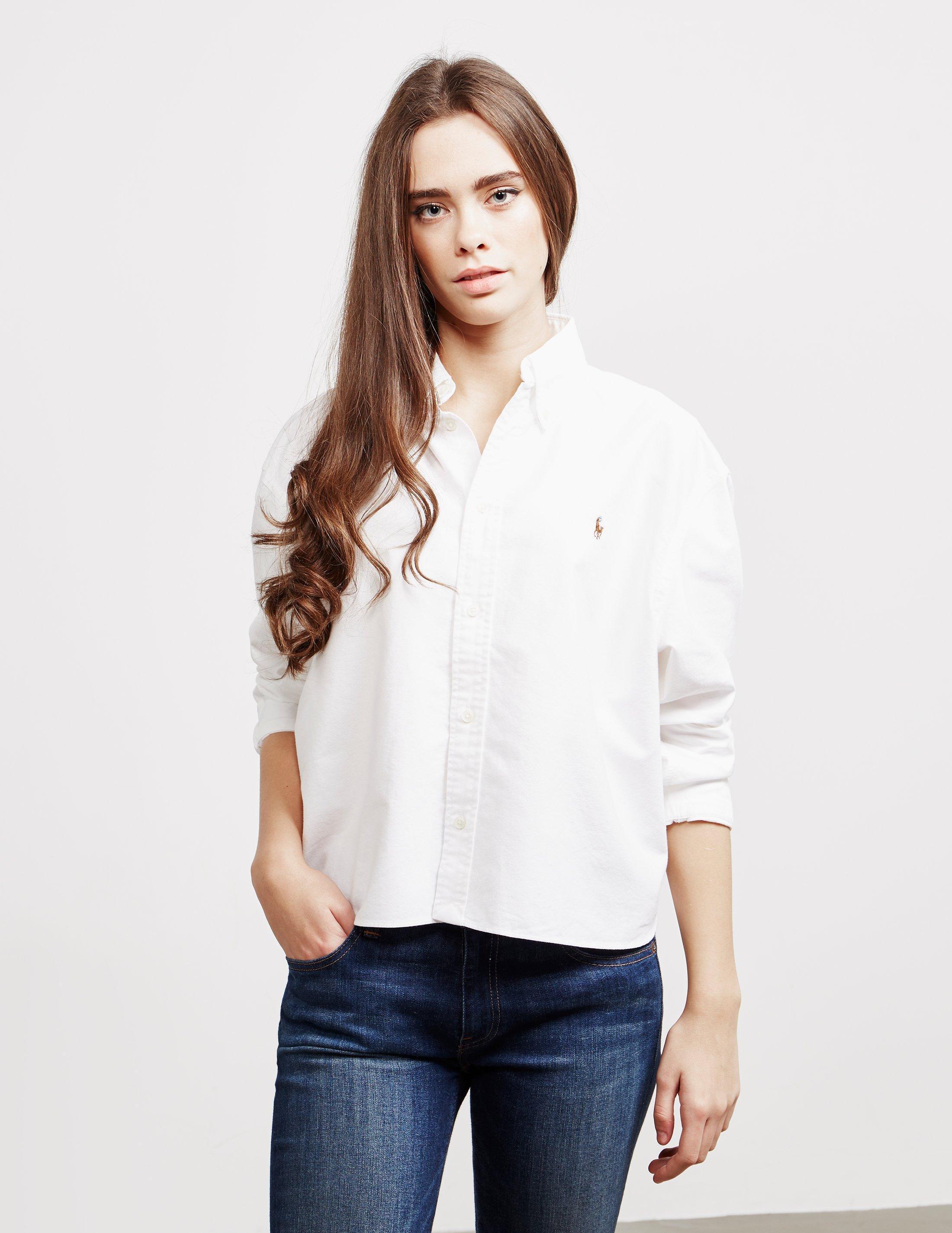 3f6ee9bc ... Crop Long Sleeve Shirt White - Lyst. Visit Tessuti UK. Tap to visit site