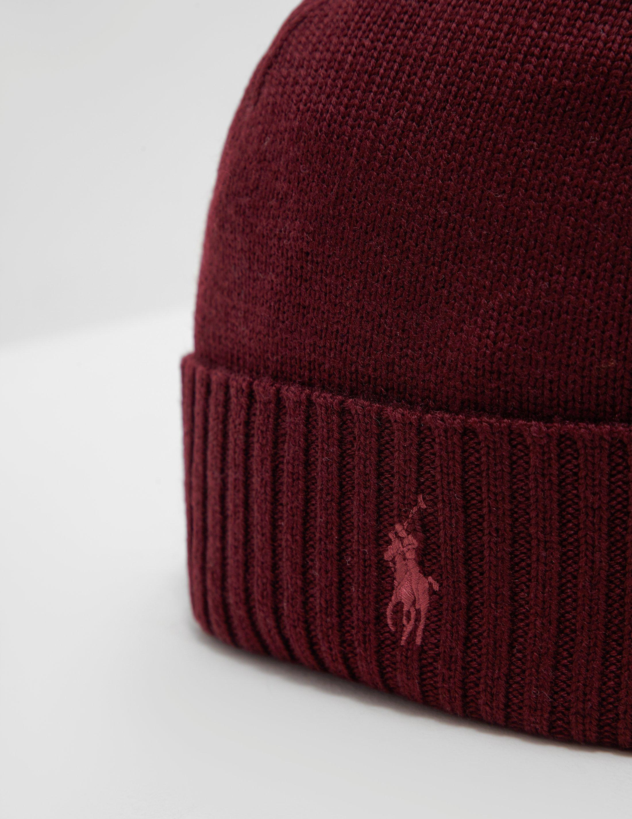 bd4a3df74c4 Polo Ralph Lauren Mens Logo Beanie Red in Red for Men - Lyst