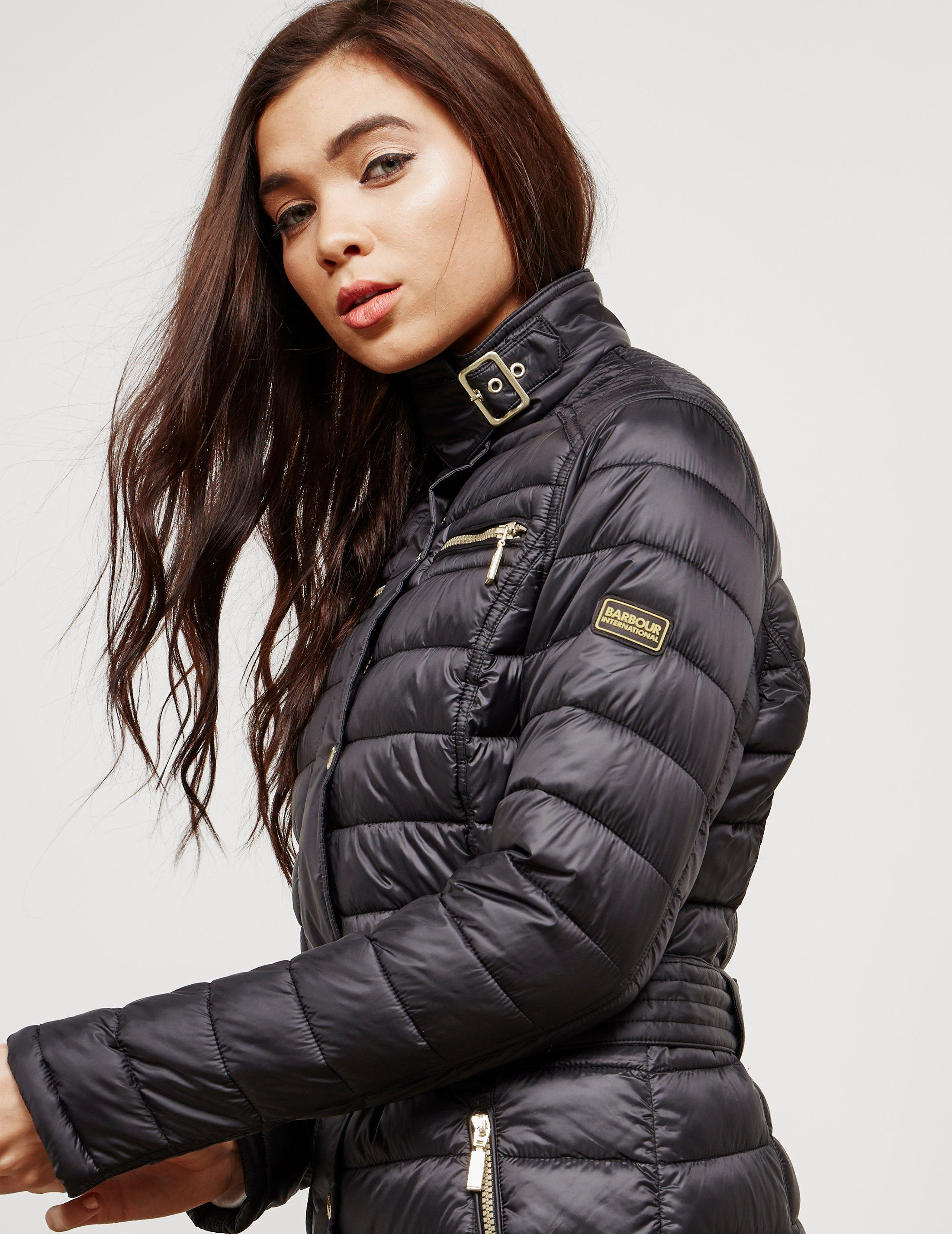 Lyst - Barbour Womens International Cadwell Quilted Jacket Black in ... 91a892e75