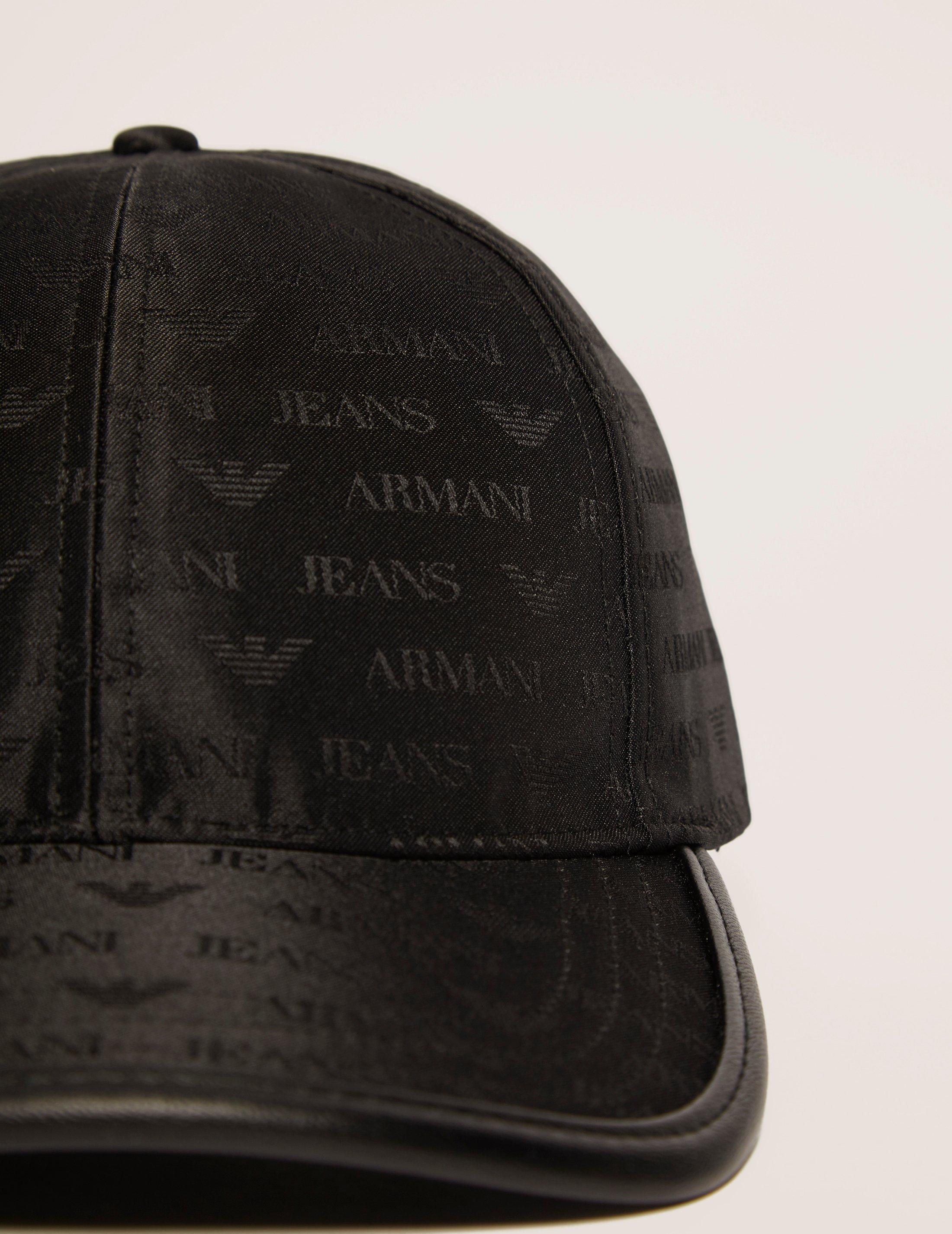 e7921b3762e15 Armani Jeans Nylon Print Cap in Black for Men - Lyst