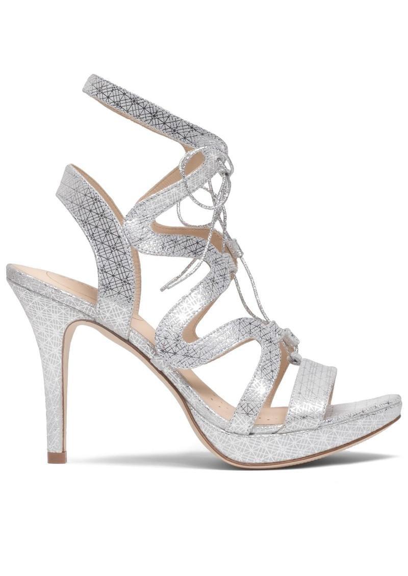 80554ec31e11 Sargossa Chic Leather Heels in Metallic - Lyst