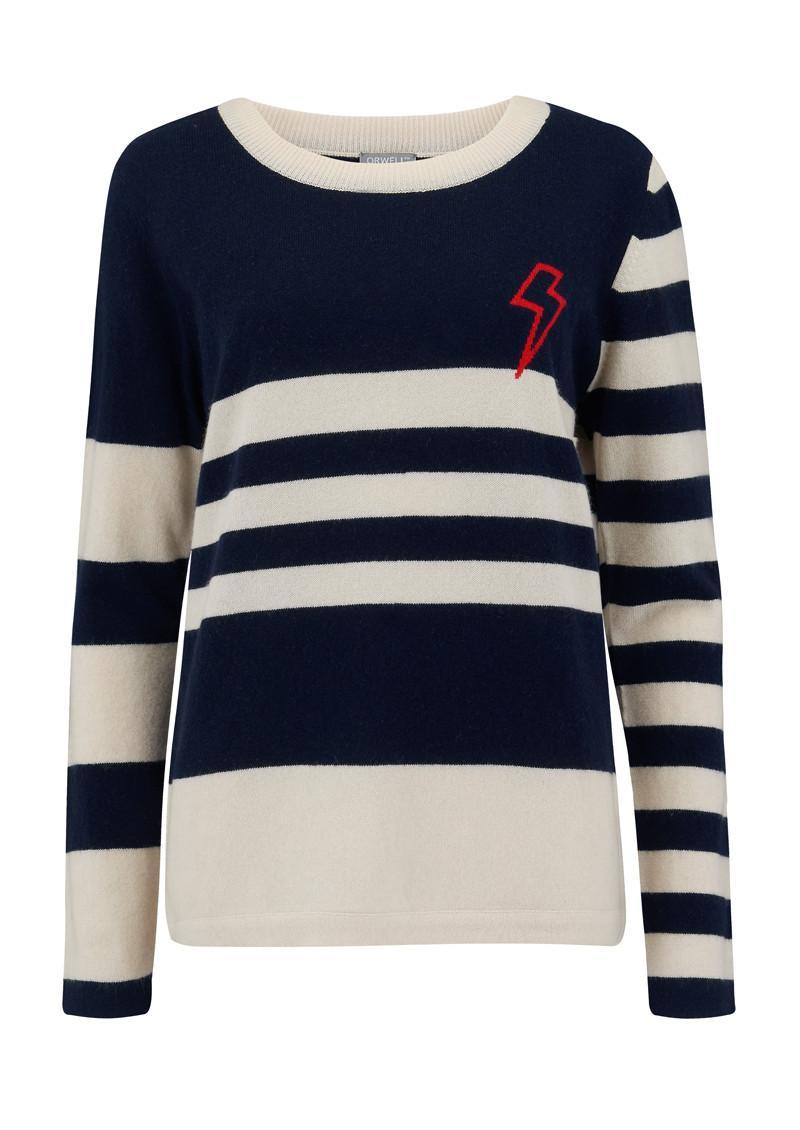 Orwell + Austen Baby Bowie Navy Stripe Breton Sweater in Blue - Lyst 27f5dd946
