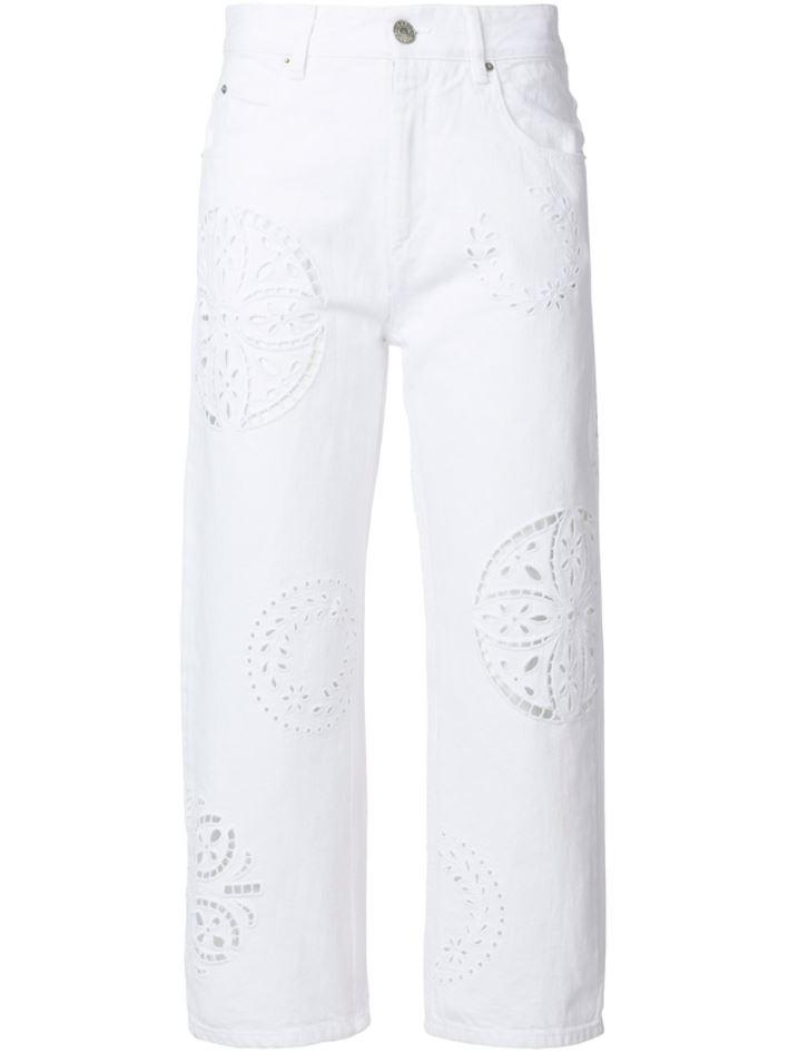 cut-out denim jeans - White Isabel Marant