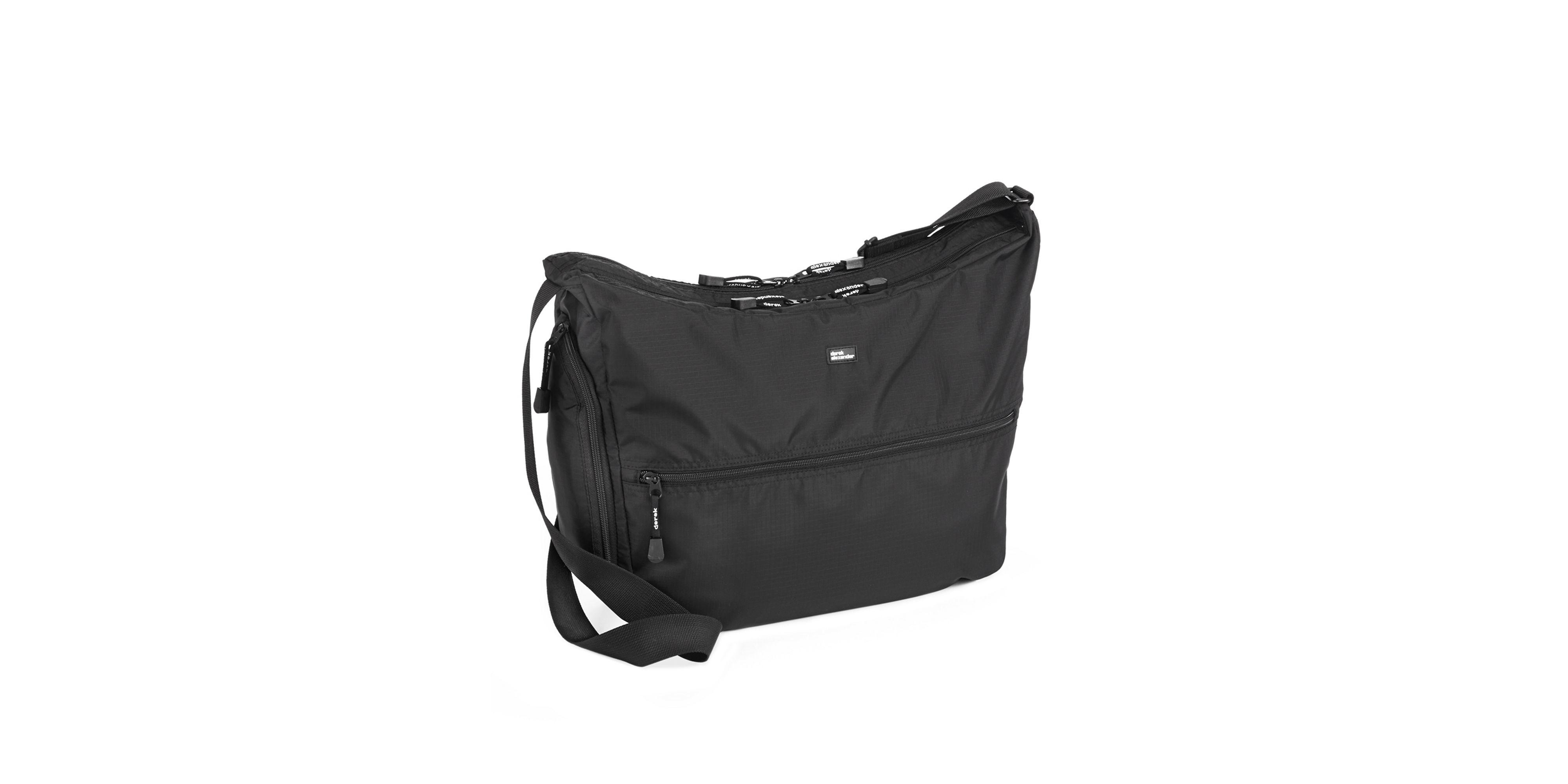 Derek alexander Large Top Zip Hobo Bag in Black