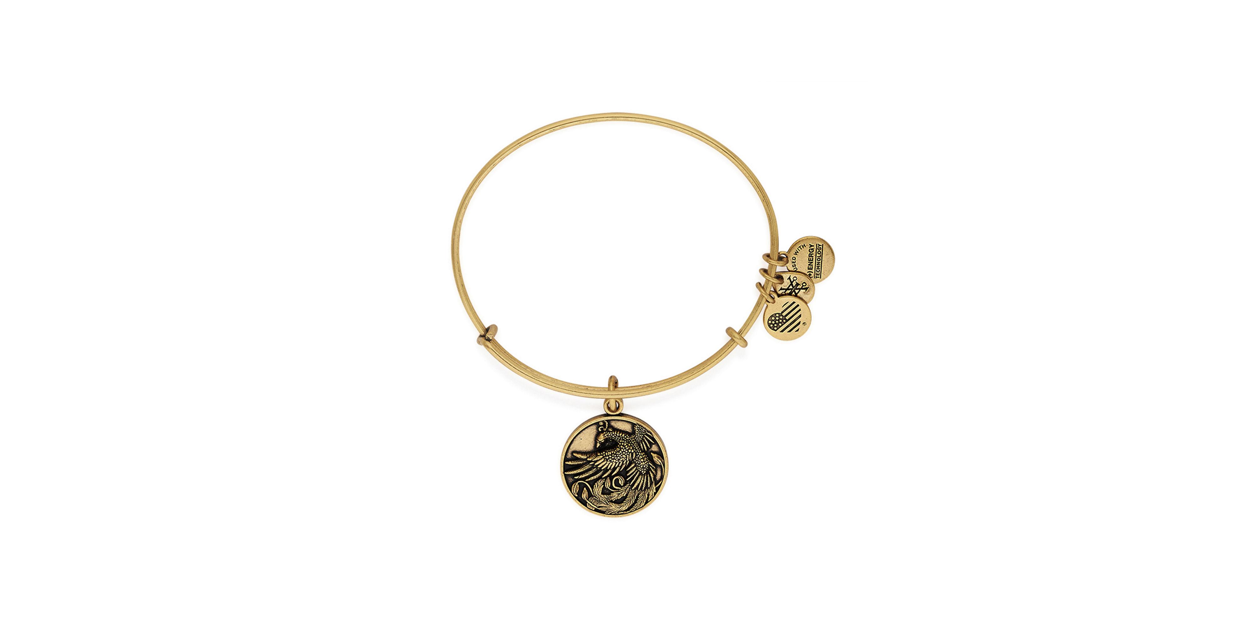 alex and ani phoenix charm bangle bracelet in gold lyst