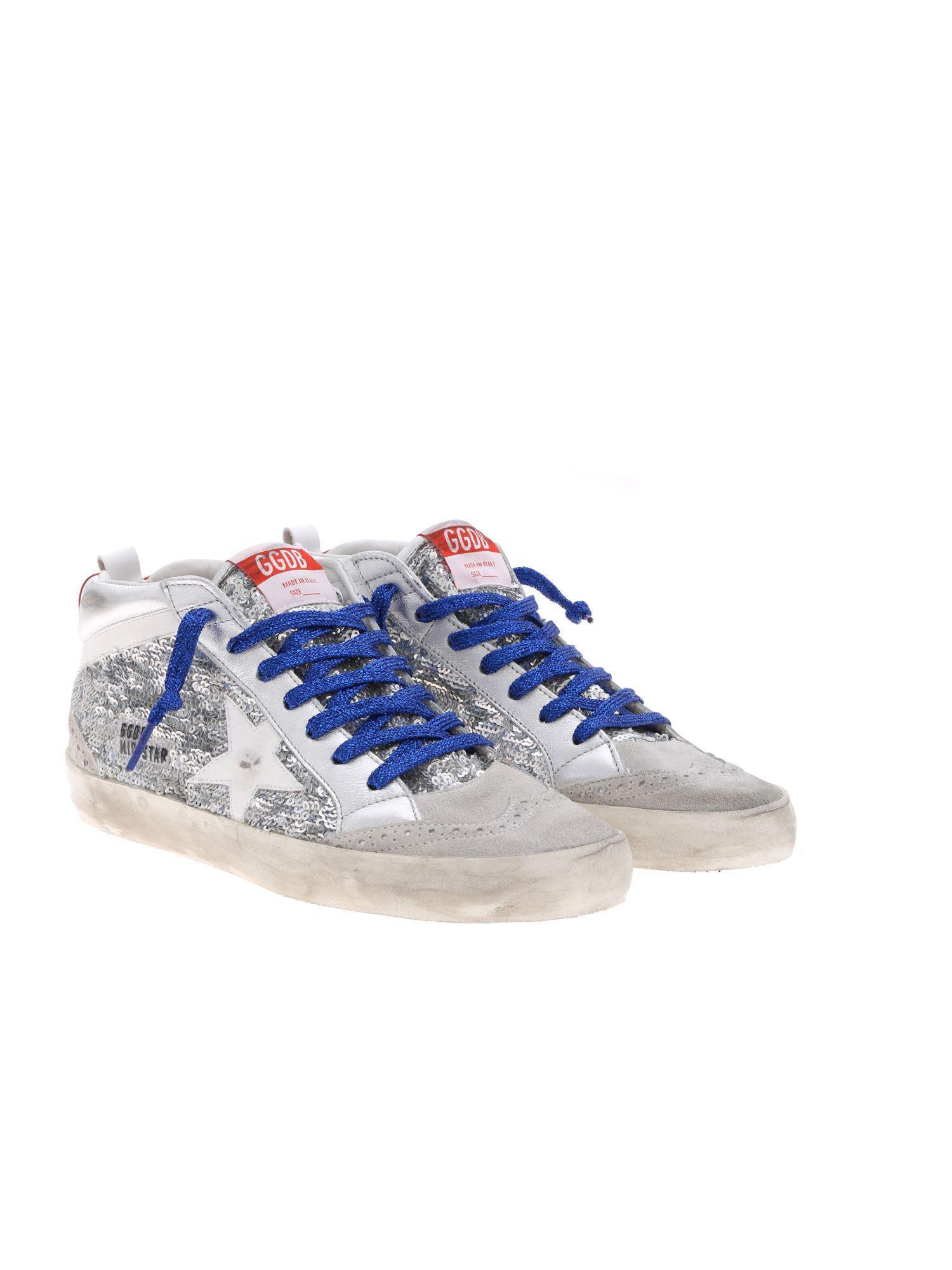 b04ce7bddda7 Lyst - Golden Goose Deluxe Brand Mid Star Sneakers In Grey Suede in Gray