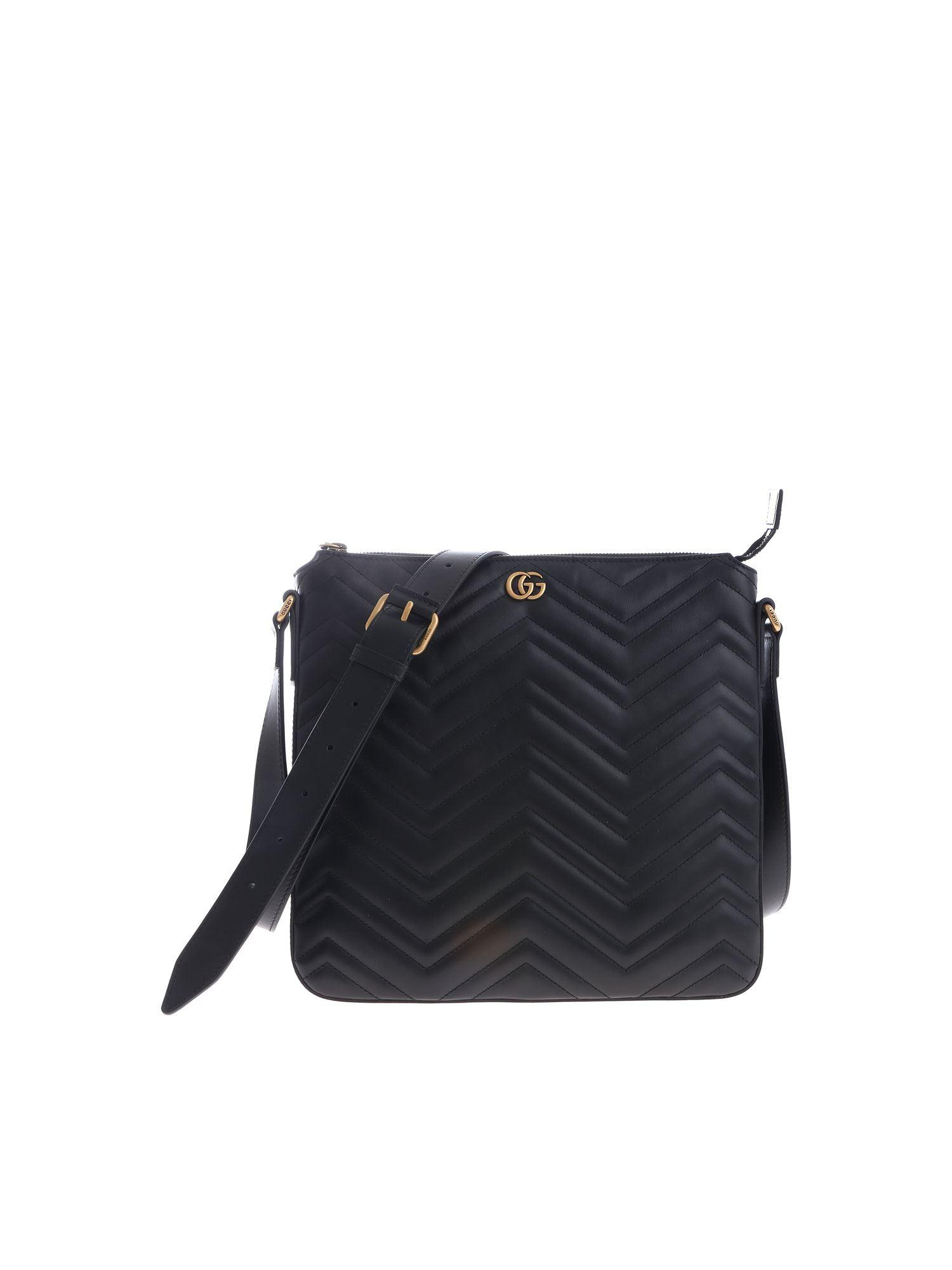 9380c6e7cca Lyst - Gucci Messenger Marmont Crossbody Bag in Blue for Men