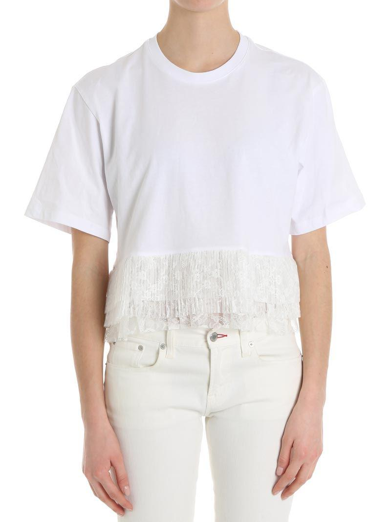 Top with pleated flounces Msgm Purchase Collections njfE2PAgC