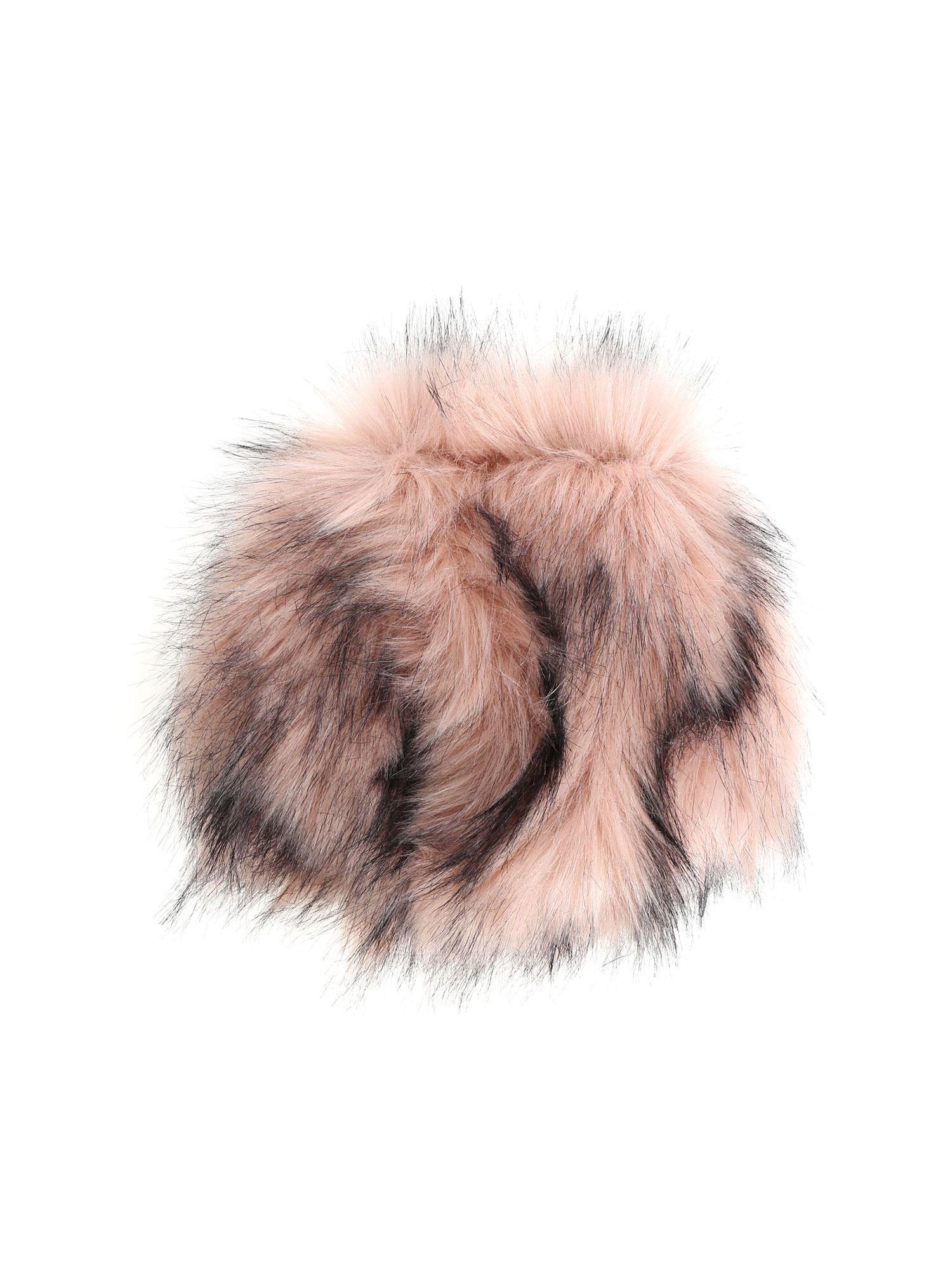 6613eb3380d Lyst - L Autre Chose Pink And Black Faux Fur Hat in Pink