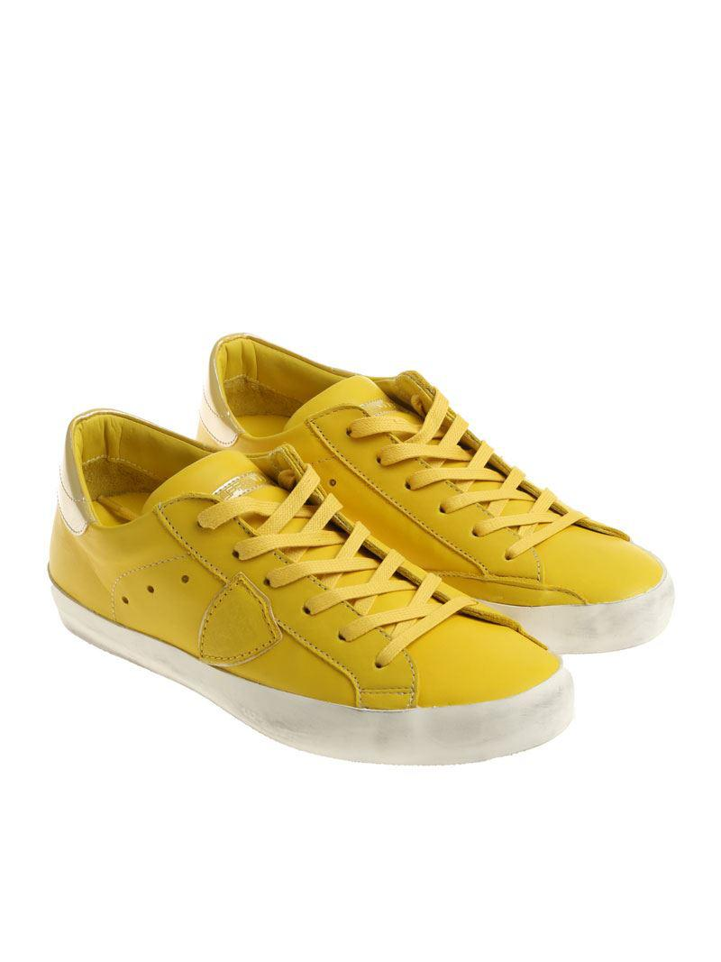 Yellow Paris L sneakers Philippe Model abJGeqar