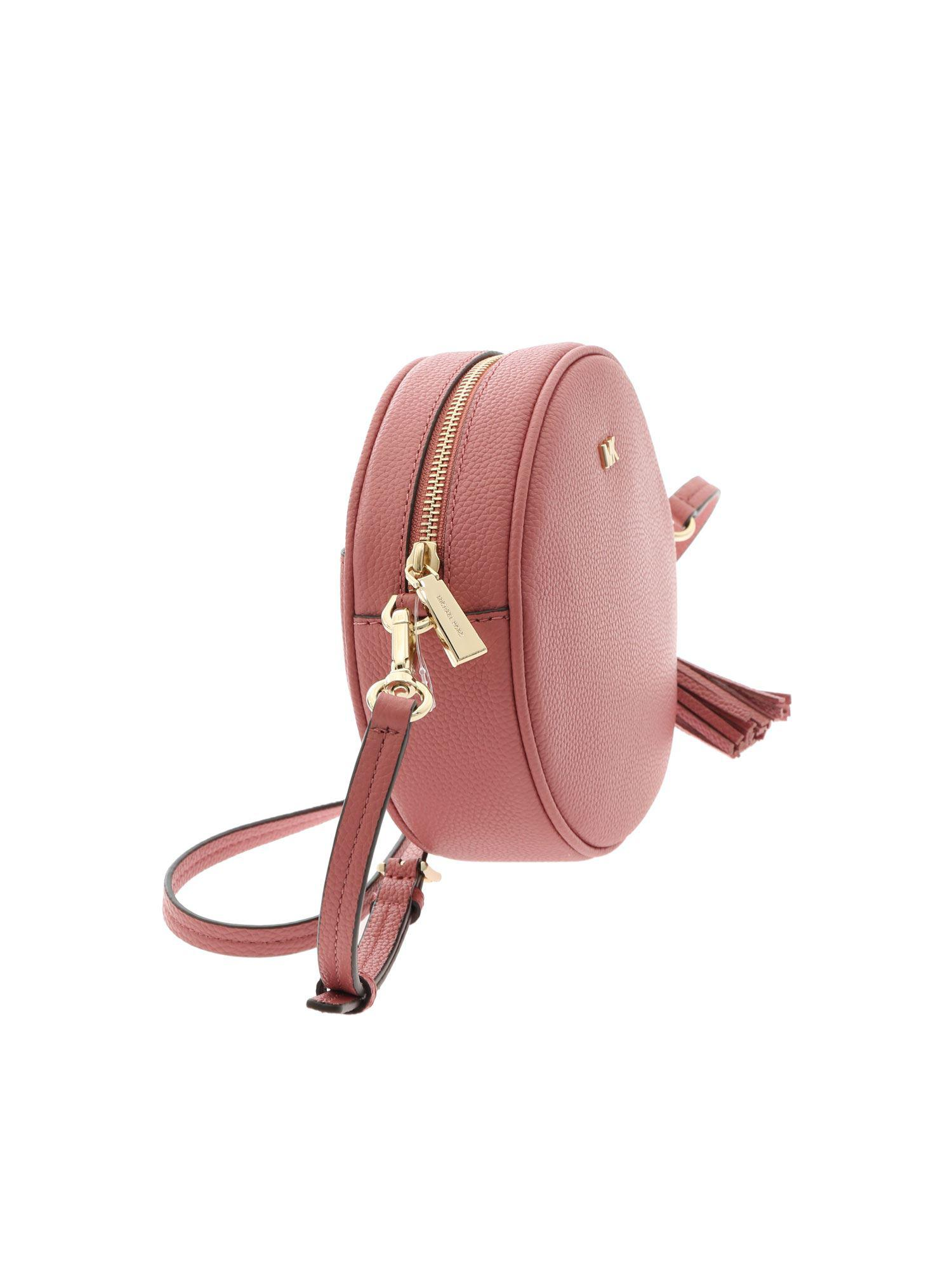 535c39ce38ea Michael Kors Canteen Pink Crossbody Bag With Logo in Pink - Lyst