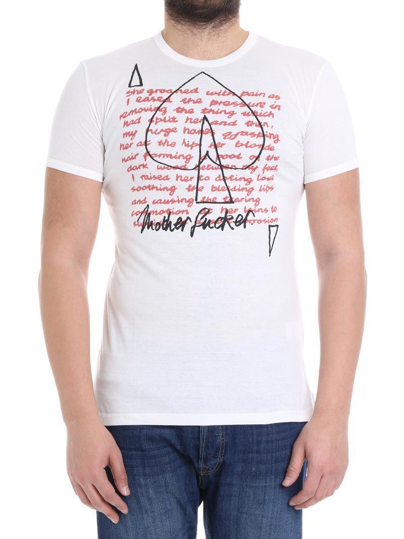 White Unisex Groaned T-shirt Vivienne Westwood Huge Surprise Online vP7YIwe94