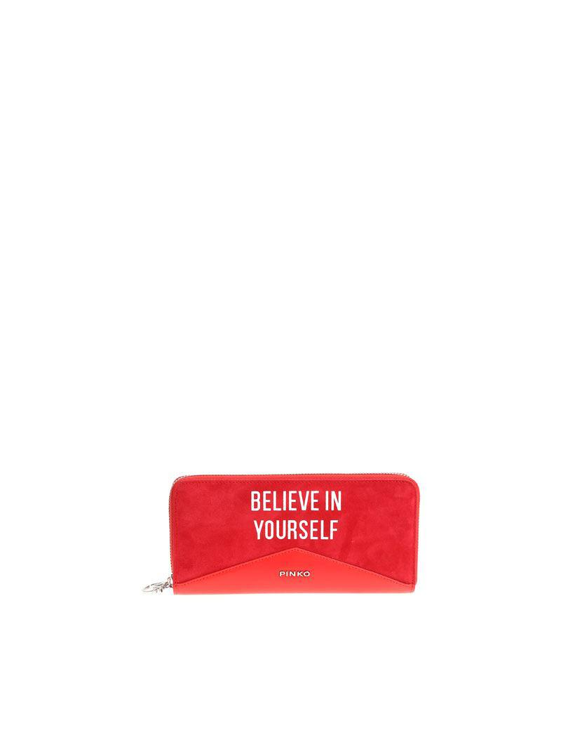 Red Ronfare wallet Pinko