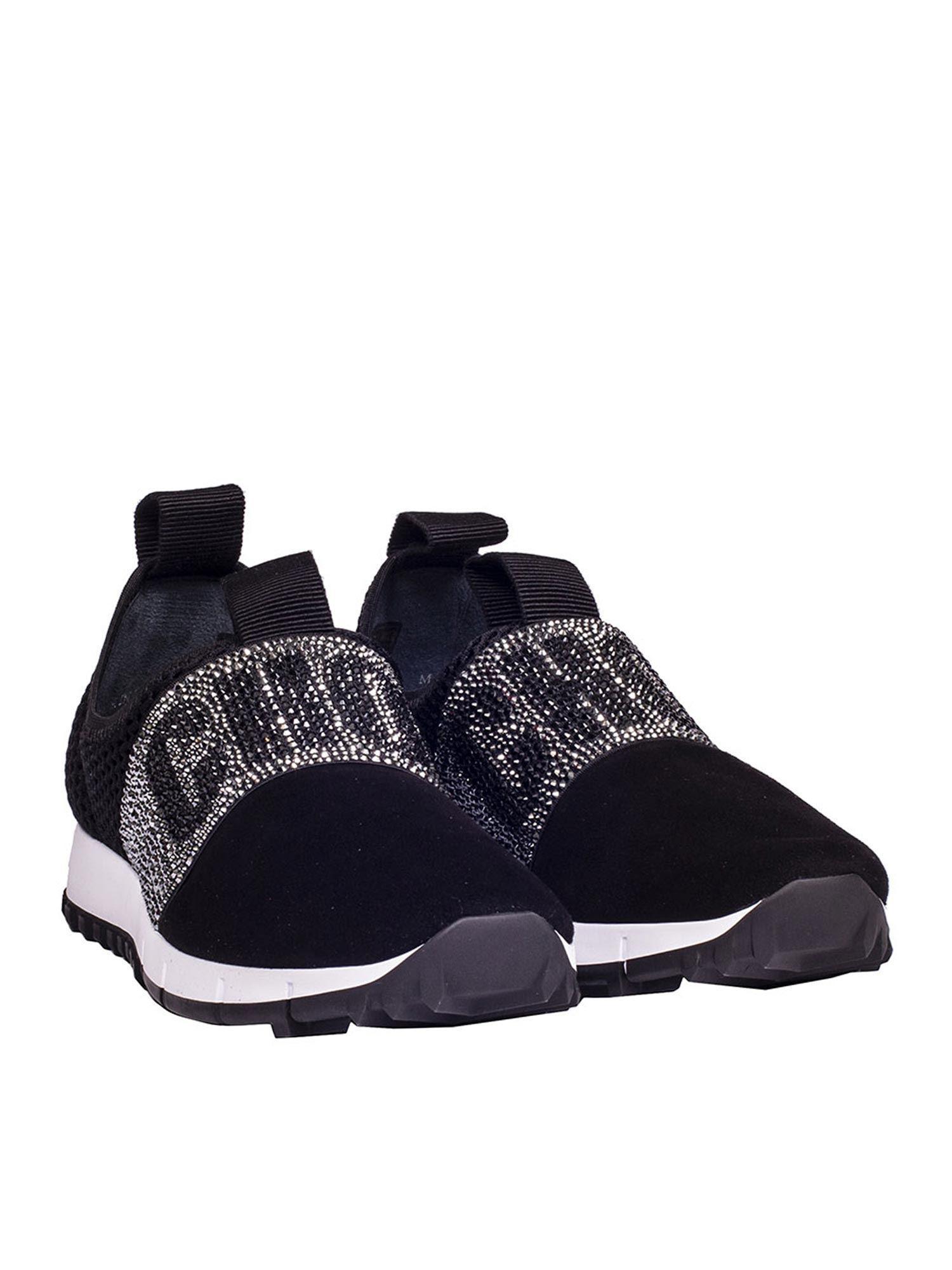 Lyst Jimmy Choo Black Oakland Sneakers In Black