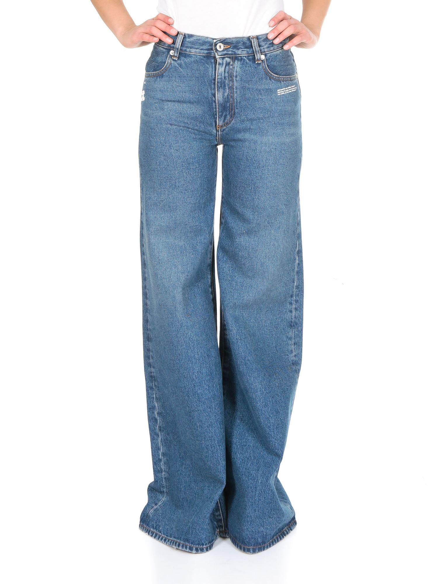 3d8bf4cdacbf Lyst - Off-White C O Virgil Abloh Straight Leg Jeans In Blue Denim ...