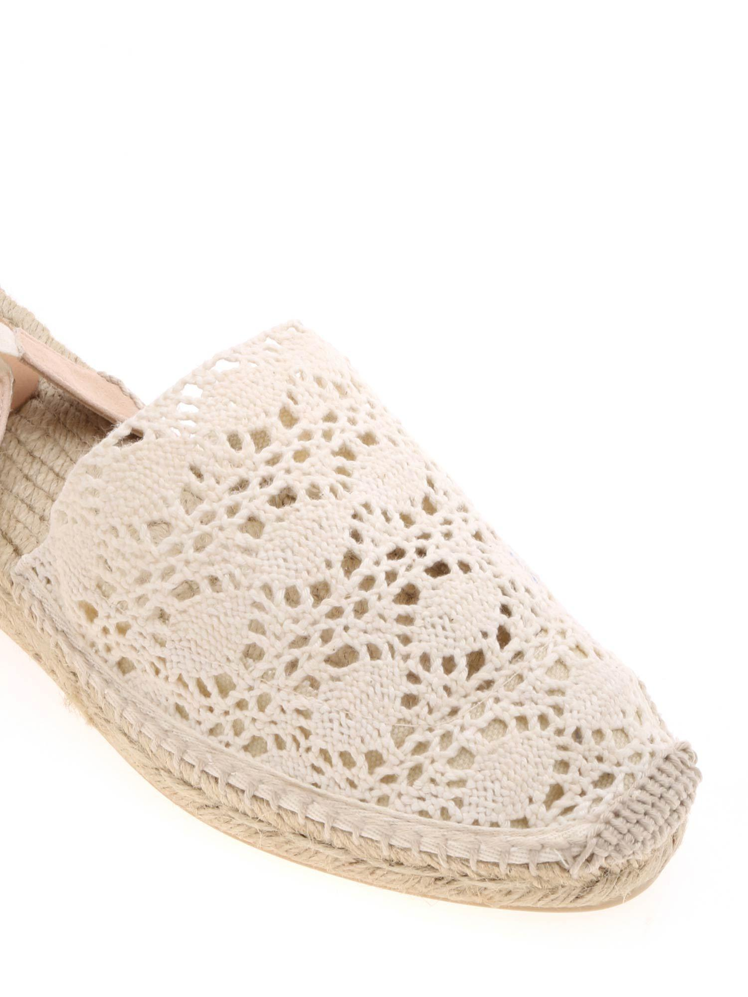 5a432748169e Castaner - White Gabe Espadrilles In Lace In Ivory Color - Lyst. View  fullscreen