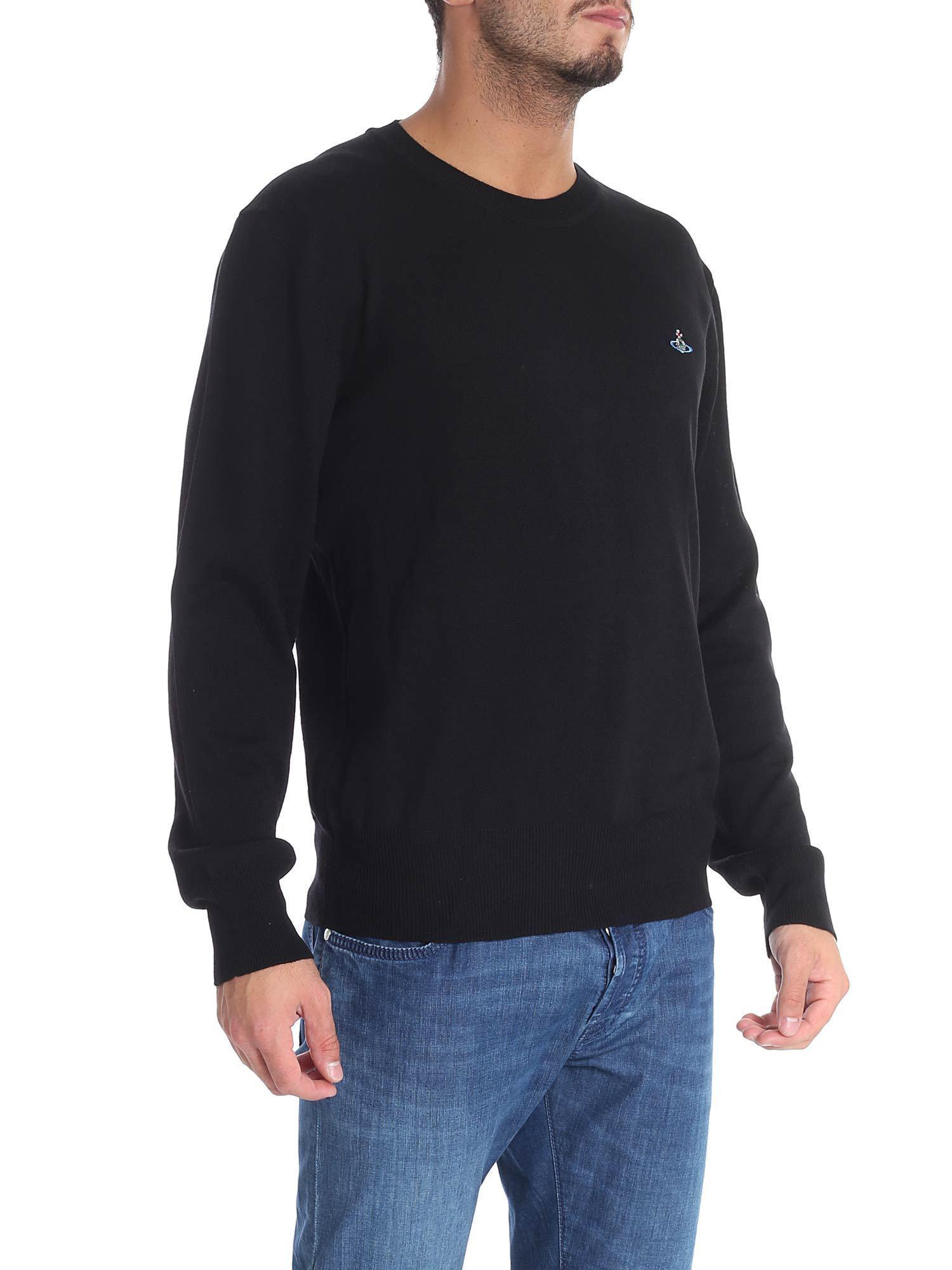 2de0bc47dea05 Vivienne Westwood Black Pullover With Logo in Black for Men - Save  13.245033112582774% - Lyst