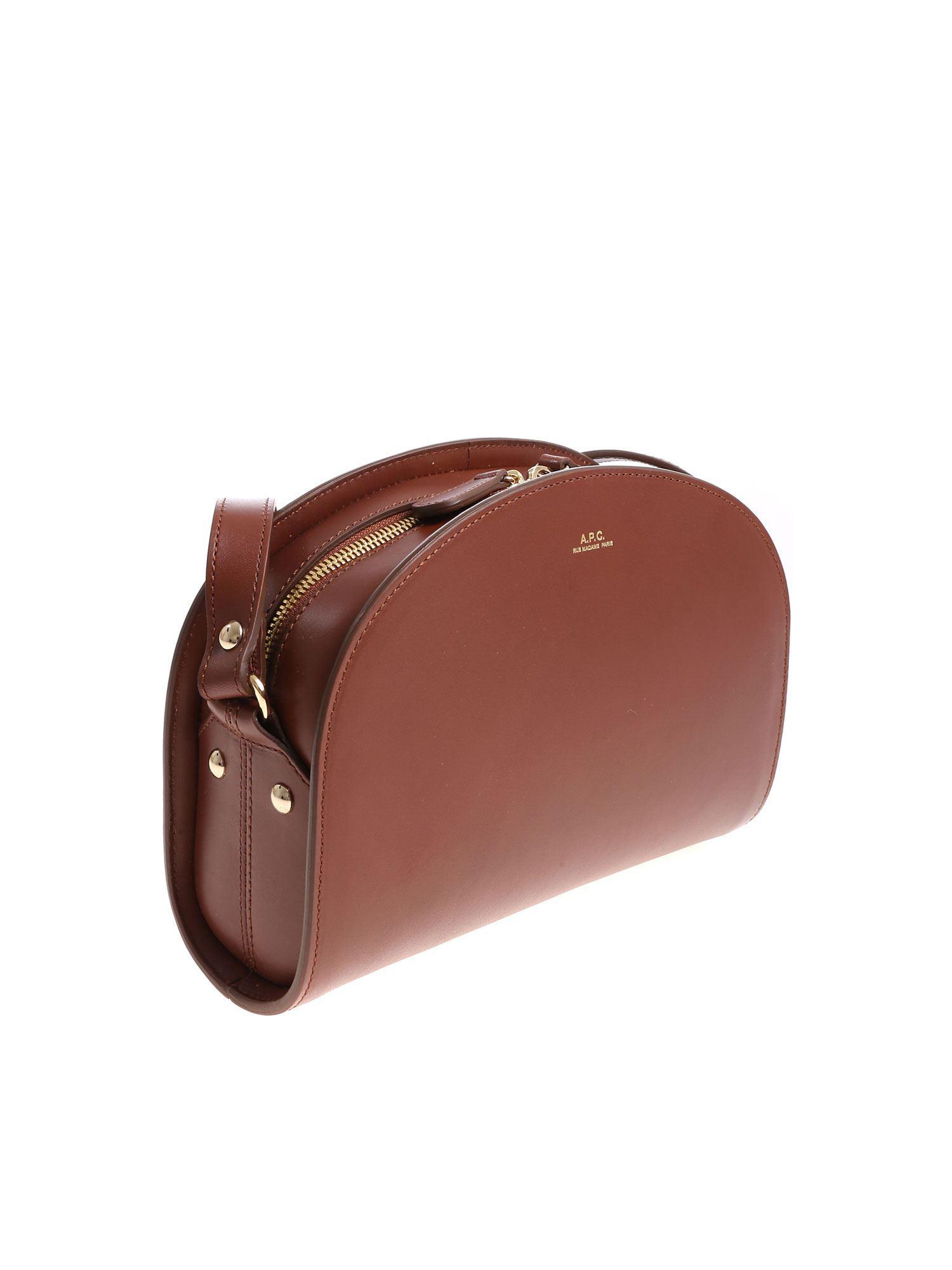 c6f19e2f0956 A.P.C. - Brown Hazelnut Color Shoulder Bag - Lyst. View fullscreen