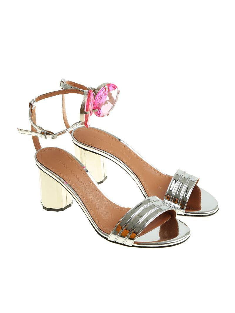 Silver patent leather sandals Marco De Vincenzo Pa5OS