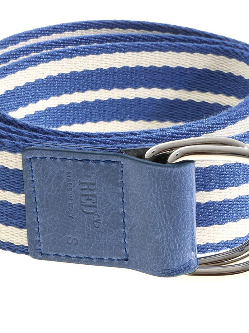 Blue and white Leisured striped belt Red Valentino 7pqOK