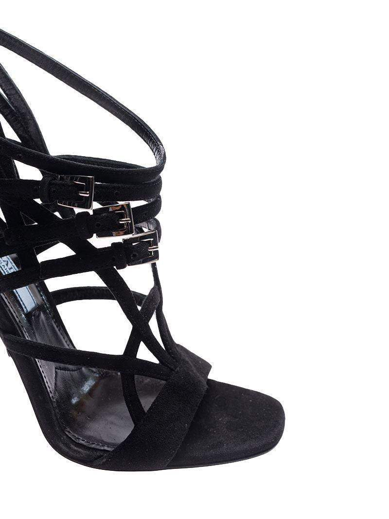 Black woven sandals with straps Prada FxSYN8Zl