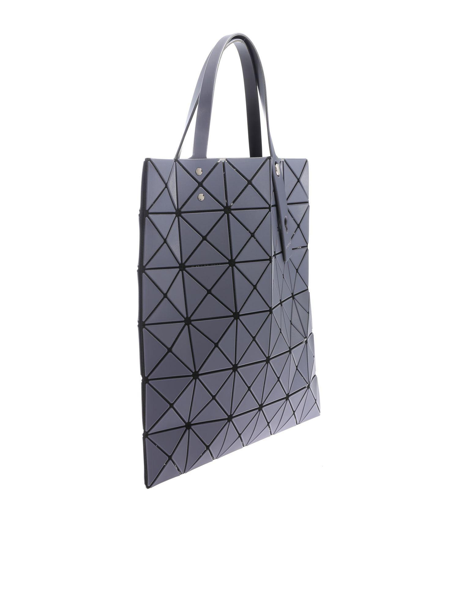 Bao Bao Issey Miyake - Lucent Frost Gray Bag With Triangle Pattern - Lyst.  View fullscreen 1871375cf8751