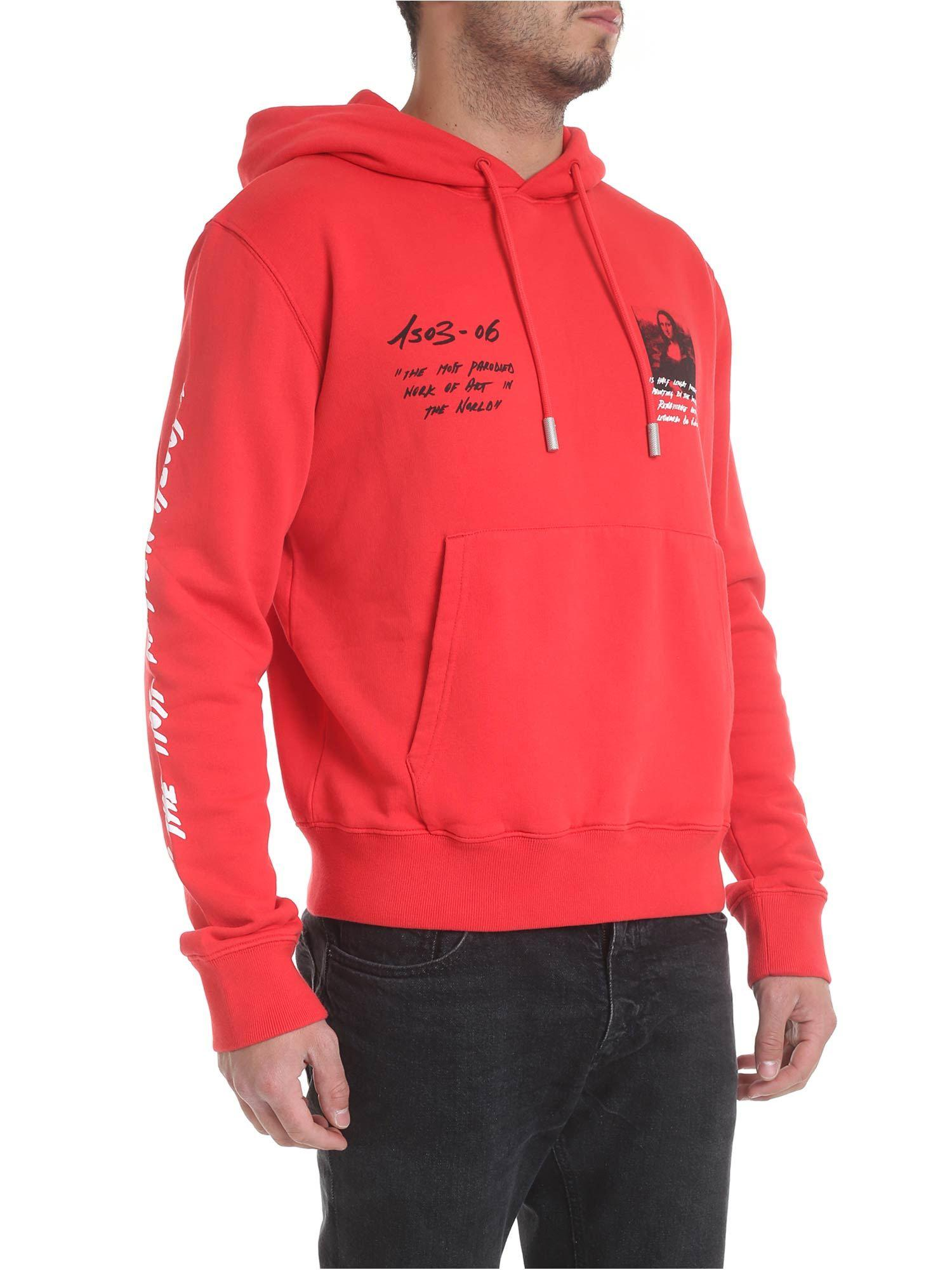 2e5732984f4f Lyst - Off-White c o Virgil Abloh Monnalisa Hoodie In Red in White for Men