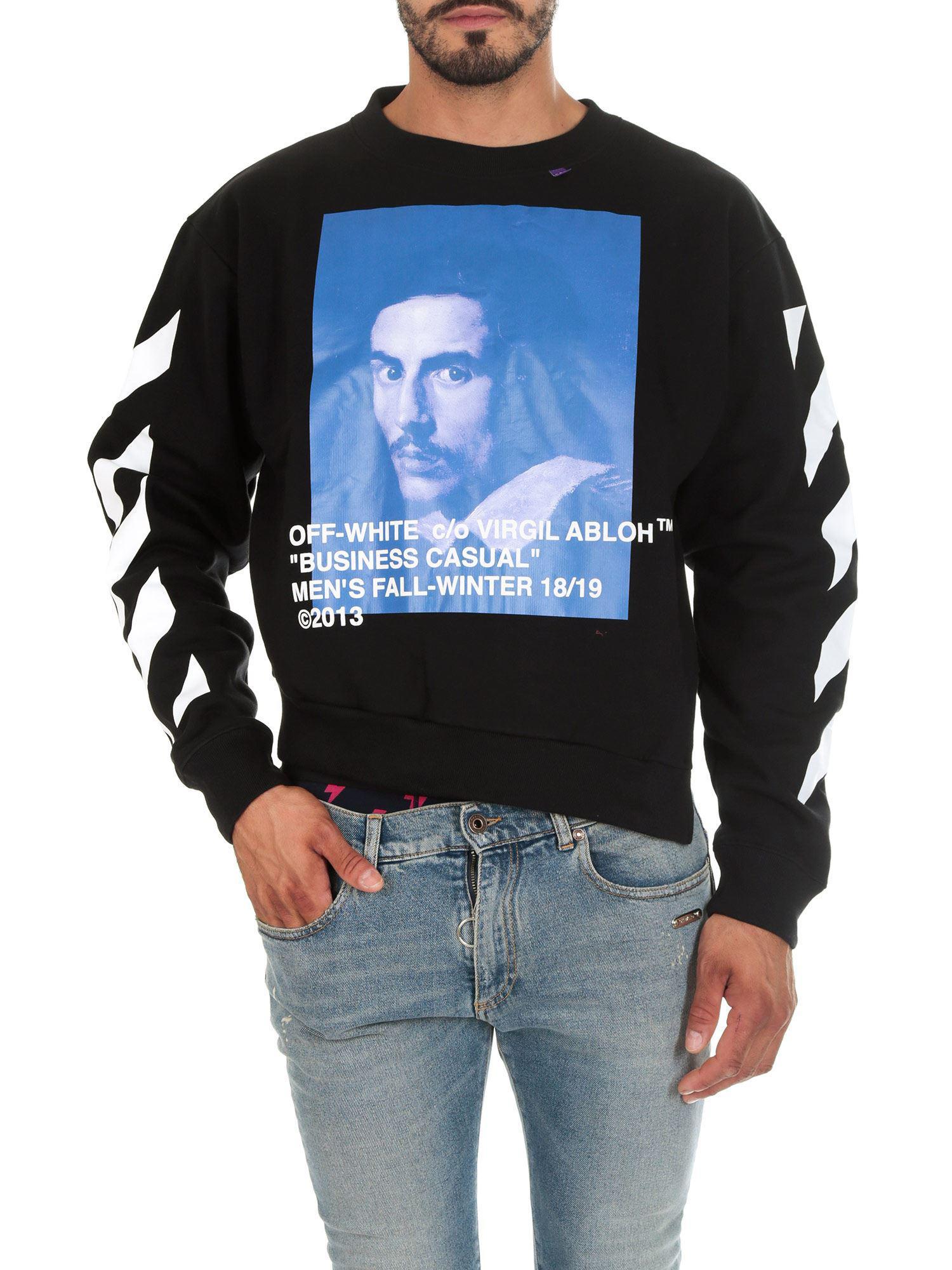 aee1bca7 Off-White c/o Virgil Abloh Diag Bernini Black Asymmetric Sweatshirt ...