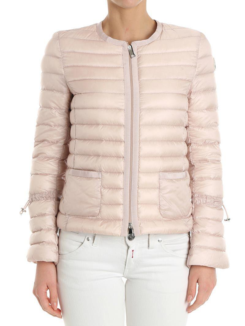 bbf4fd288 Lyst - Moncler Pink Almandin Down Jacket in Pink