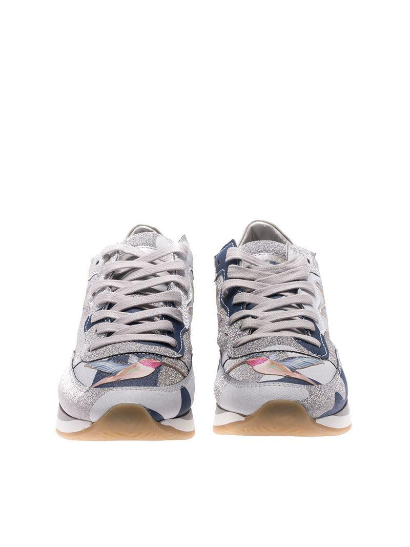 Tropez sneakers with bird embroideries Philippe Model JwLMAaoLA